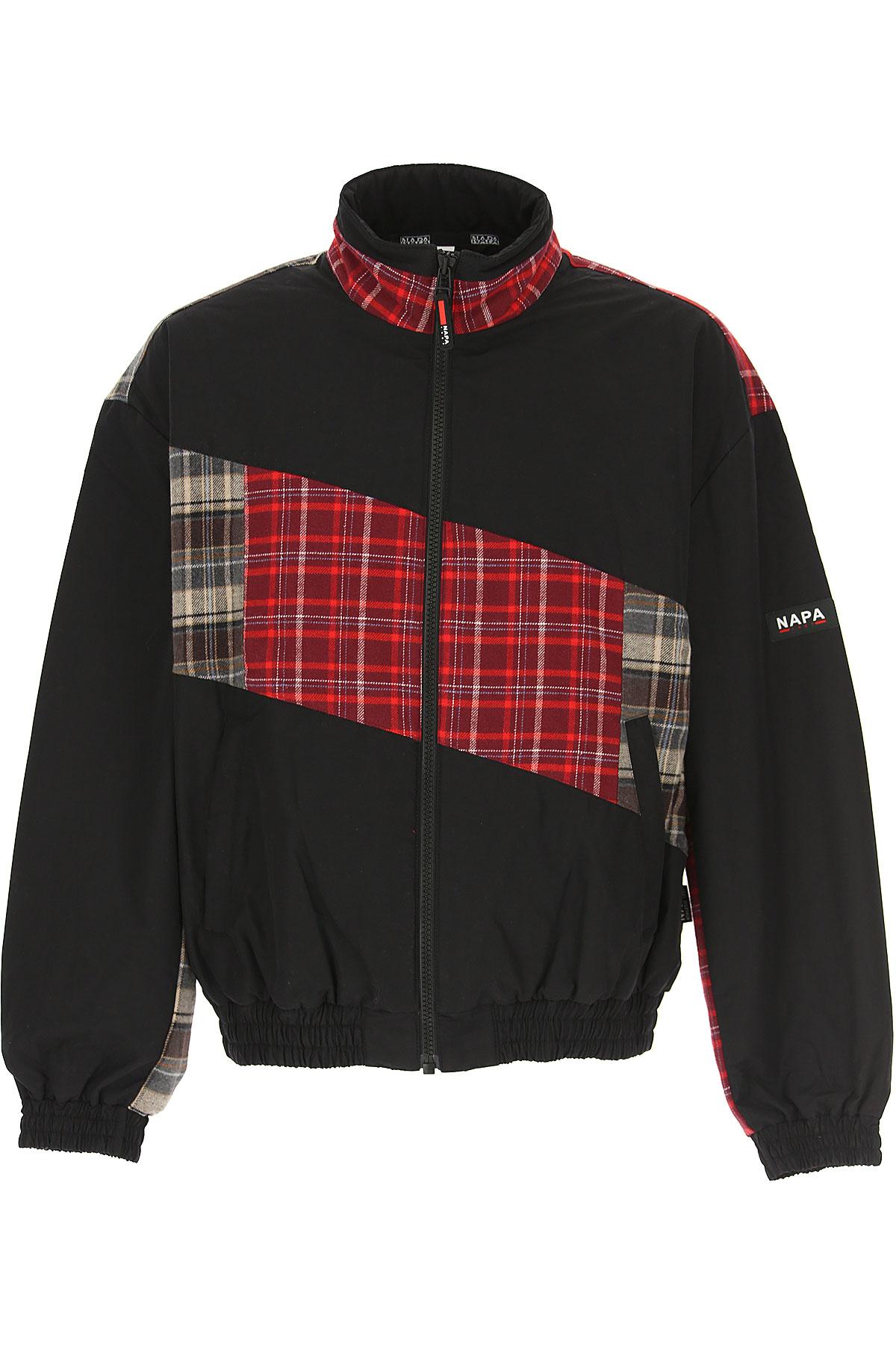 Napapijri Jacket for Men On Sale, Black, Cotton, 2019, L M S