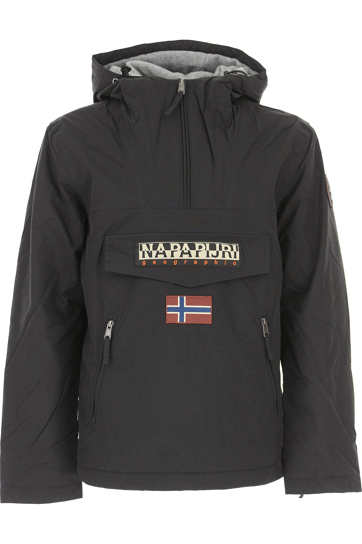 Image of Napapijri Down Jacket for Men, Puffer Ski Jacket, Black, polyestere, 2017, L M XL XS