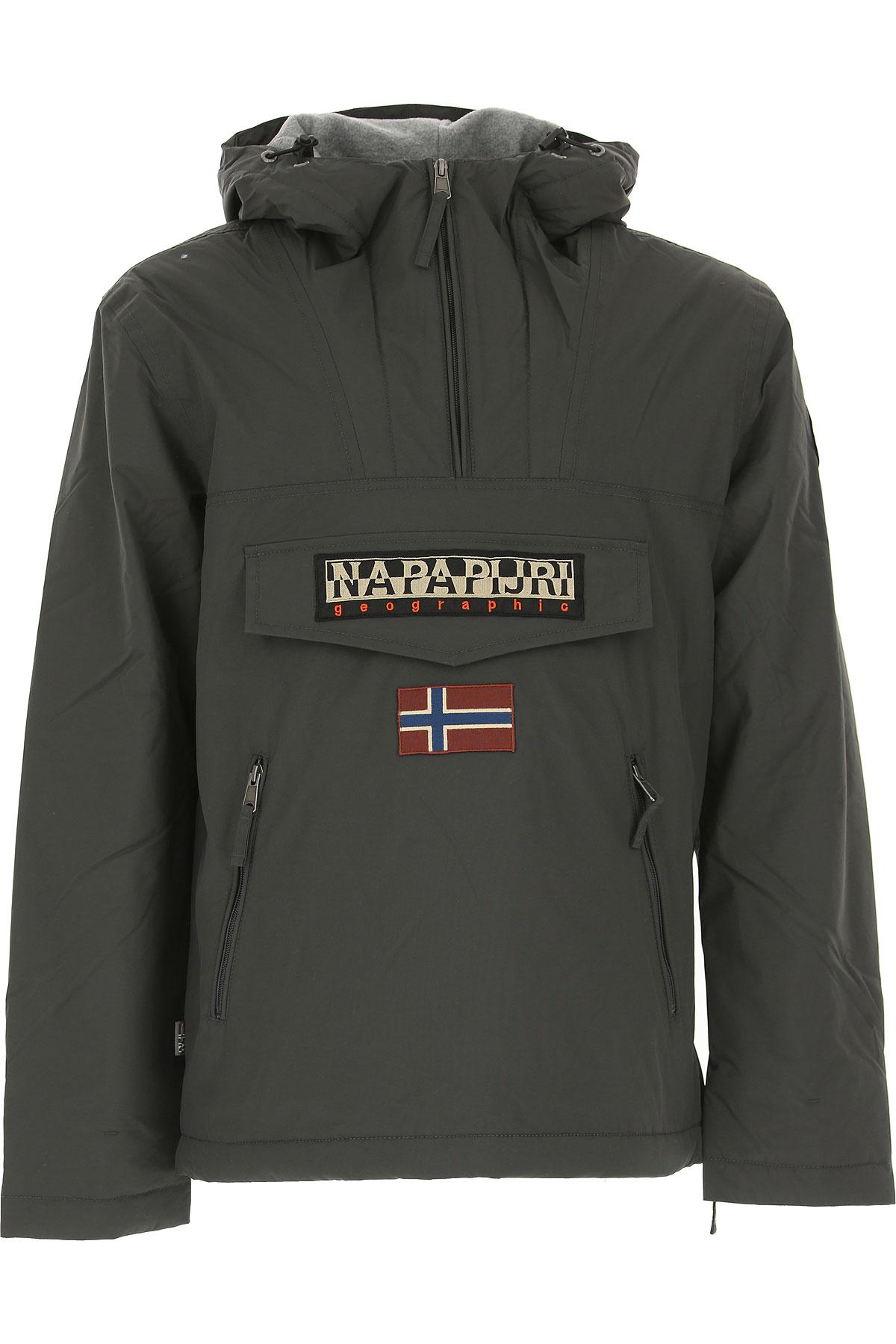Image of Napapijri Down Jacket for Men, Puffer Ski Jacket, Dark Anthracite Grey, polyestere, 2017, M S XL XS