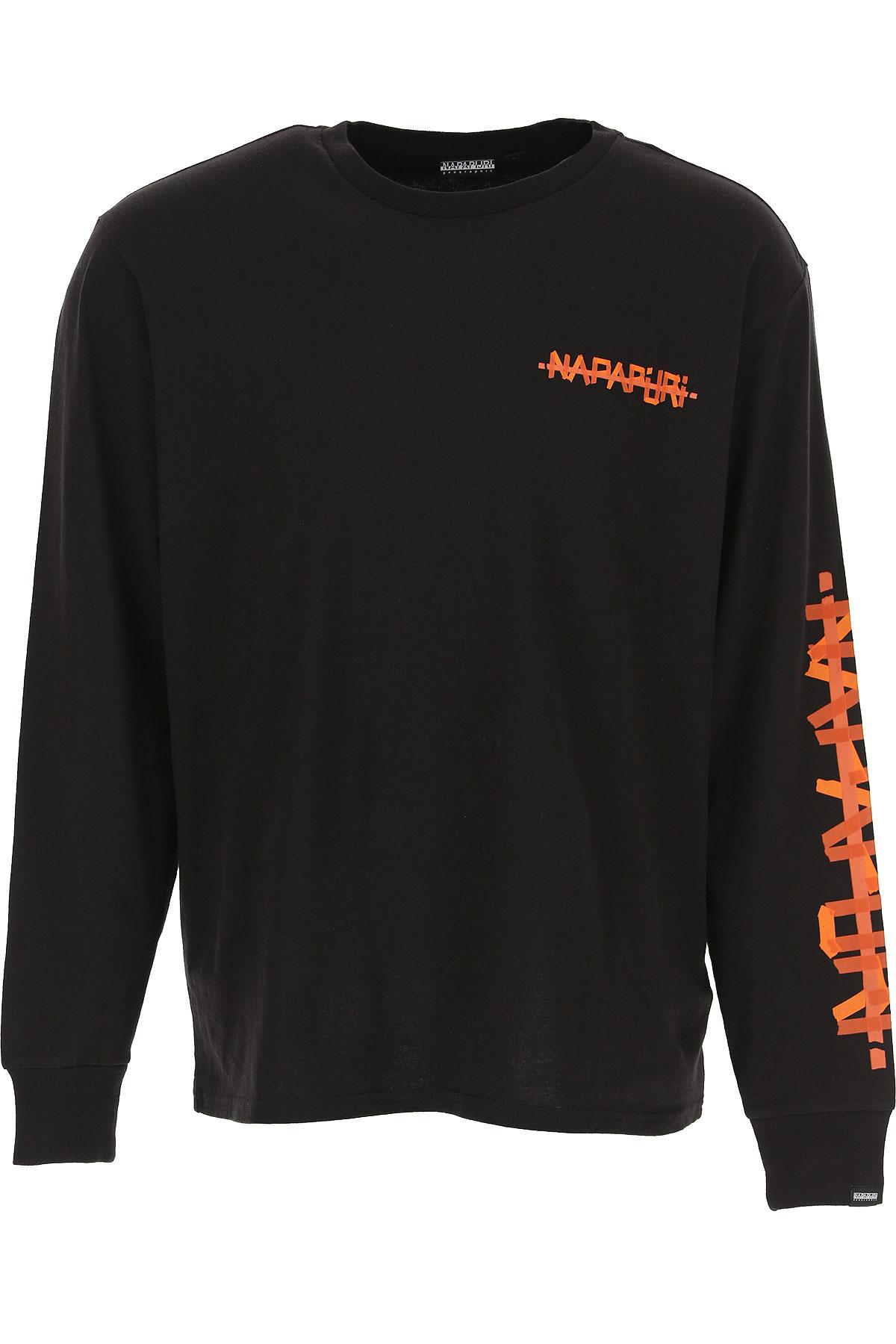 Napapijri T-Shirt for Men On Sale, Black, Cotton, 2019, M S
