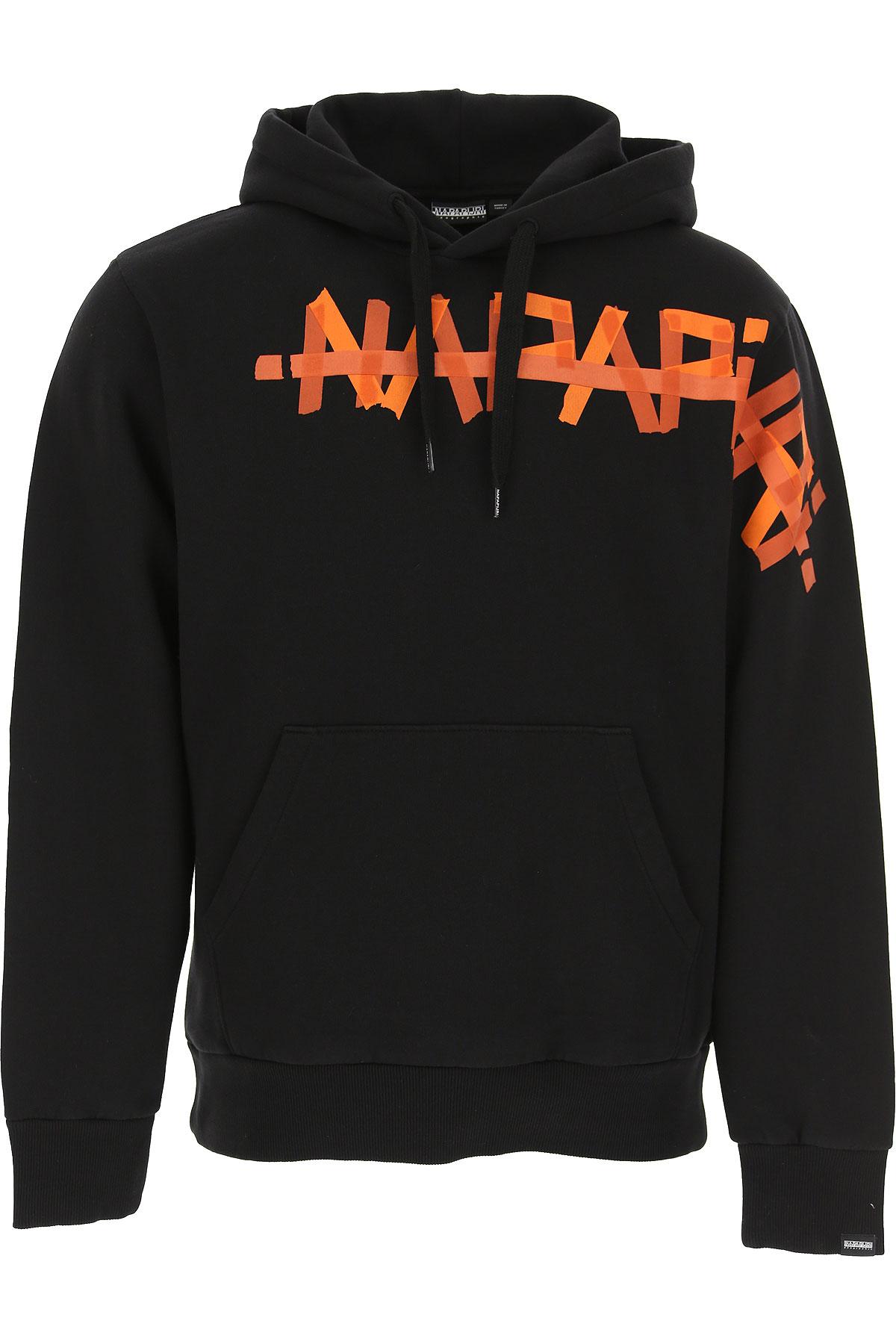 Napapijri Sweatshirt for Men On Sale, Black, Cotton, 2019, M S XL