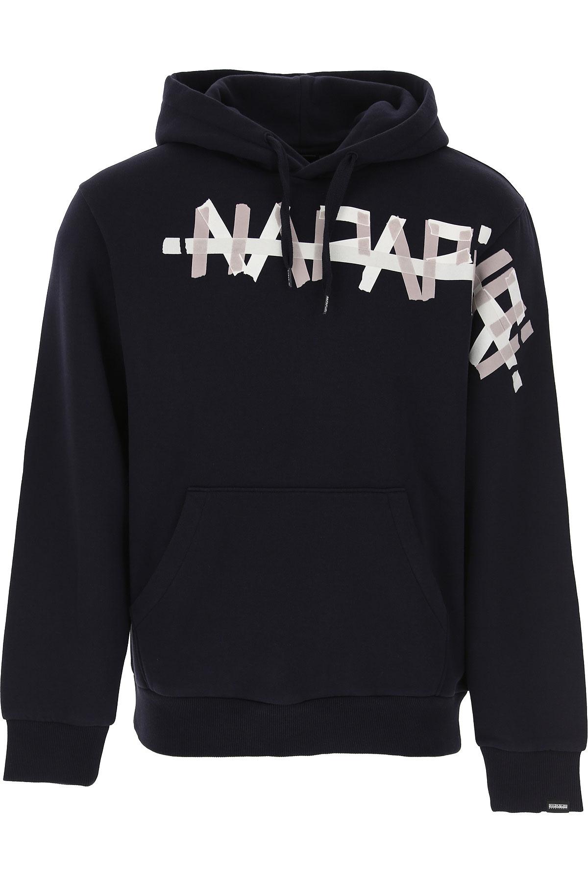 Napapijri Sweatshirt for Men On Sale, Blue Marine, Cotton, 2019, L M S