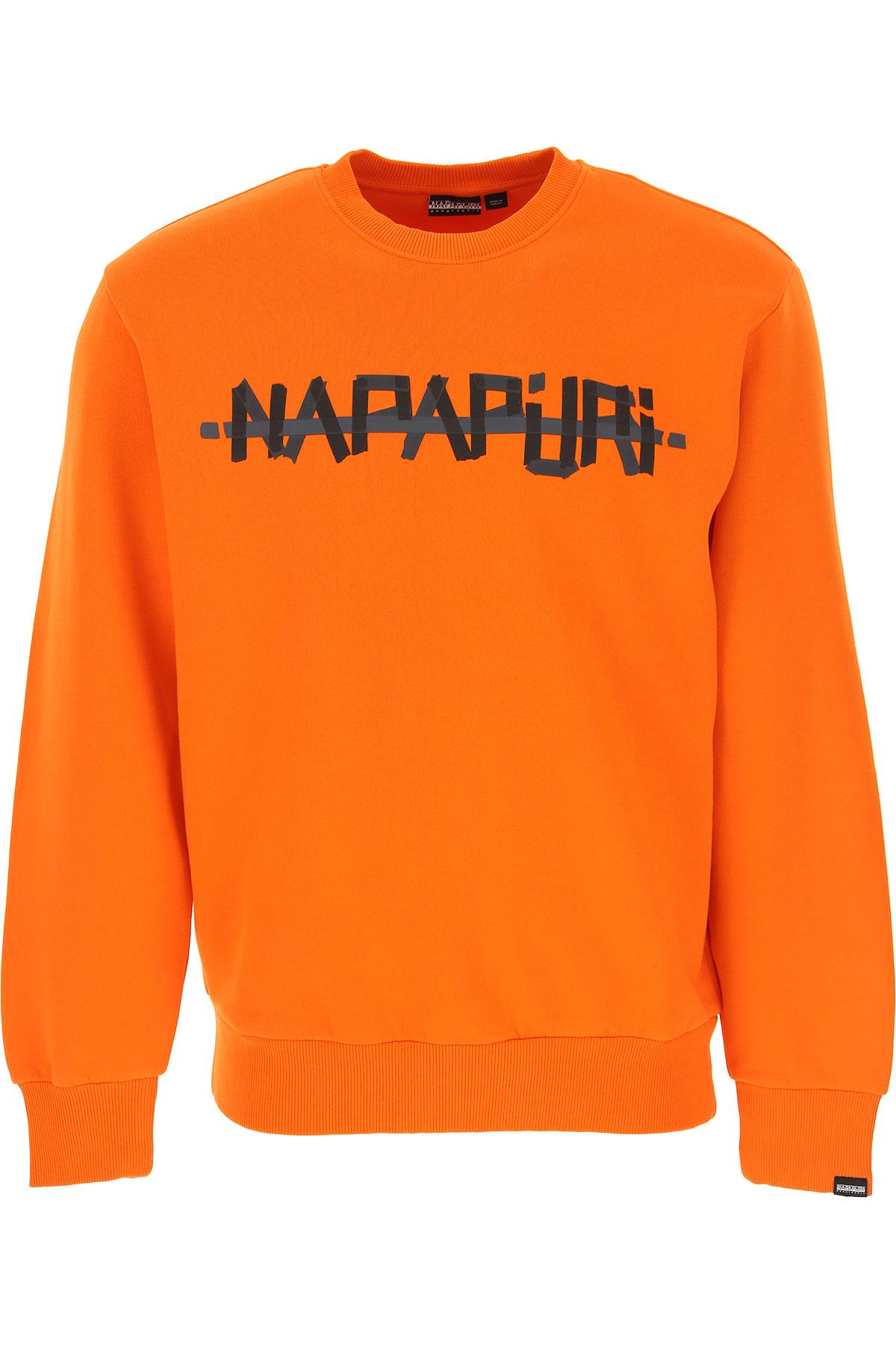 Napapijri Sweatshirt for Men On Sale, Orange, Cotton, 2019, L M S XS