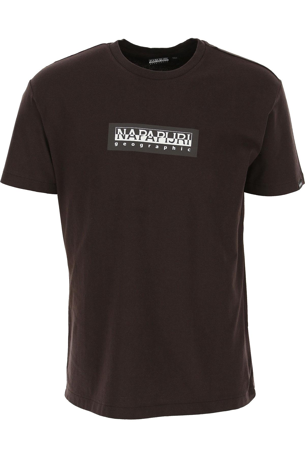 Napapijri T-Shirt for Men On Sale, Chocolate Brown, Cotton, 2019, L M S