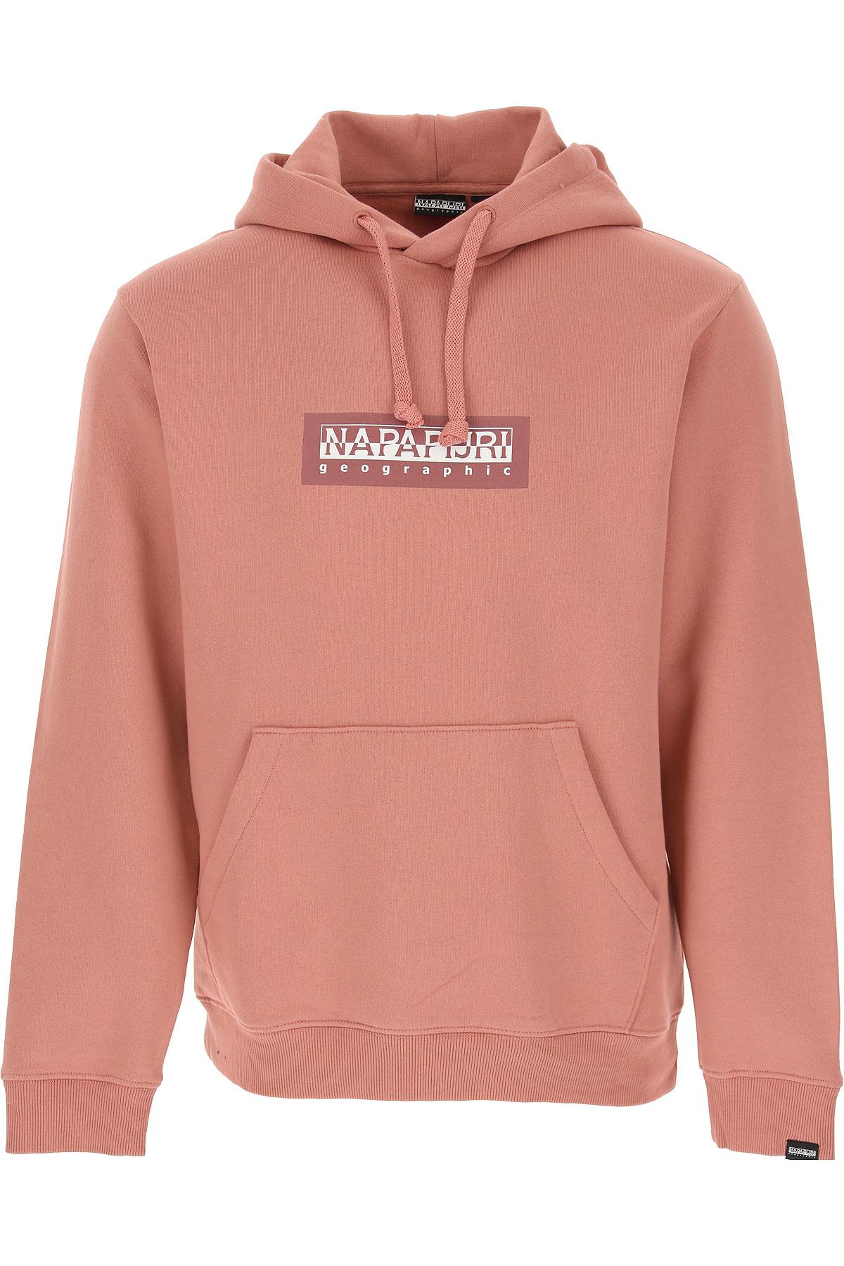 Napapijri Sweatshirt for Men On Sale, Old Pink, Cotton, 2019, M S XS