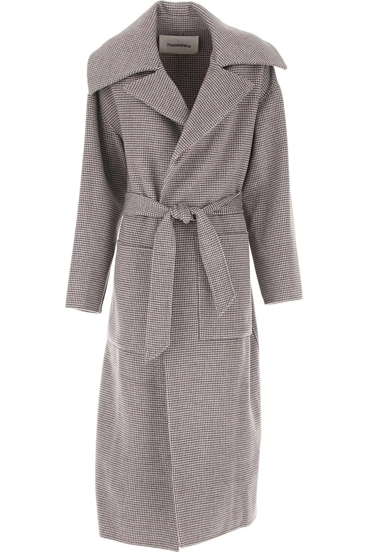 Nanushka Women's Coat, Brown, Wool, 2021, 6 8