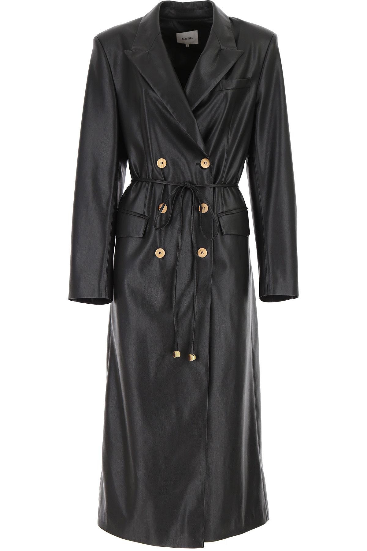Nanushka Women's Coat On Sale, Black, polyestere, 2019, 4 6