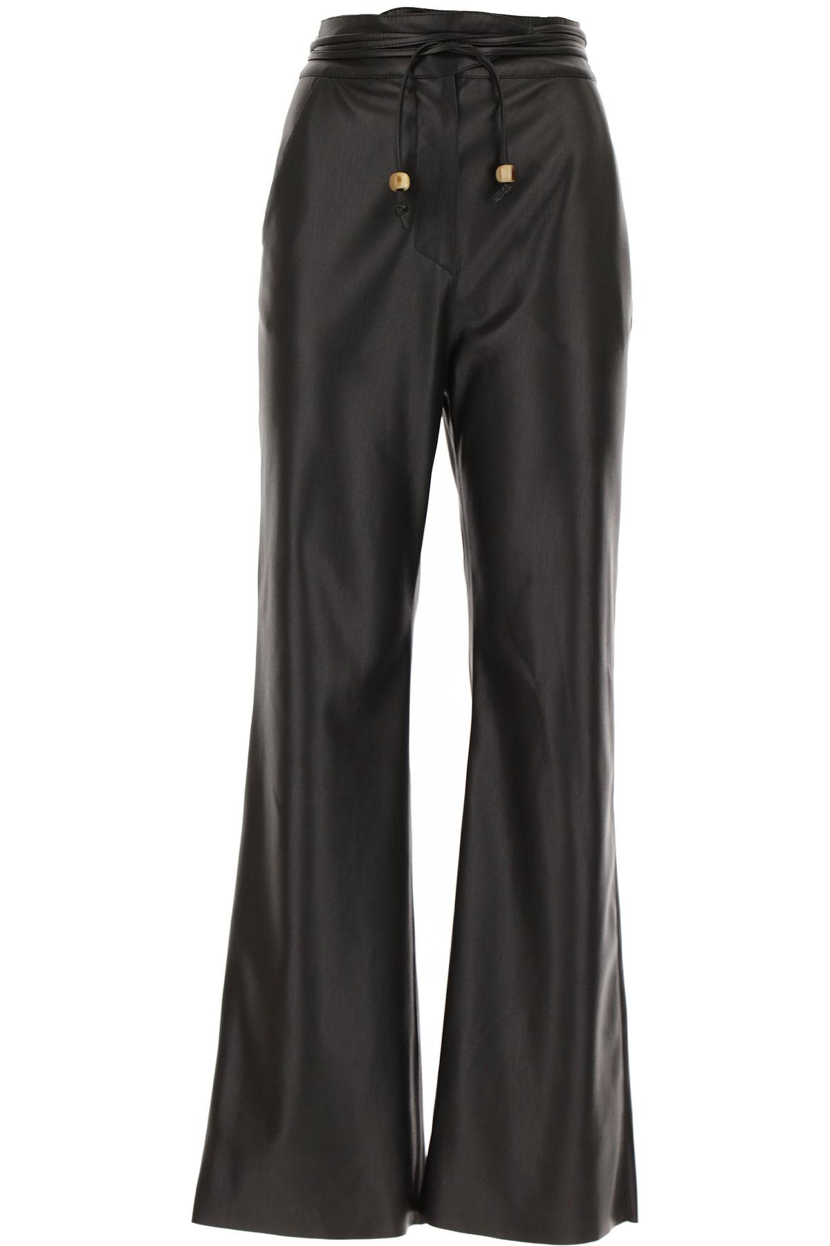 Nanushka Pants for Women On Sale, Black, polyestere, 2019, S (IT 40) M (IT 42 )