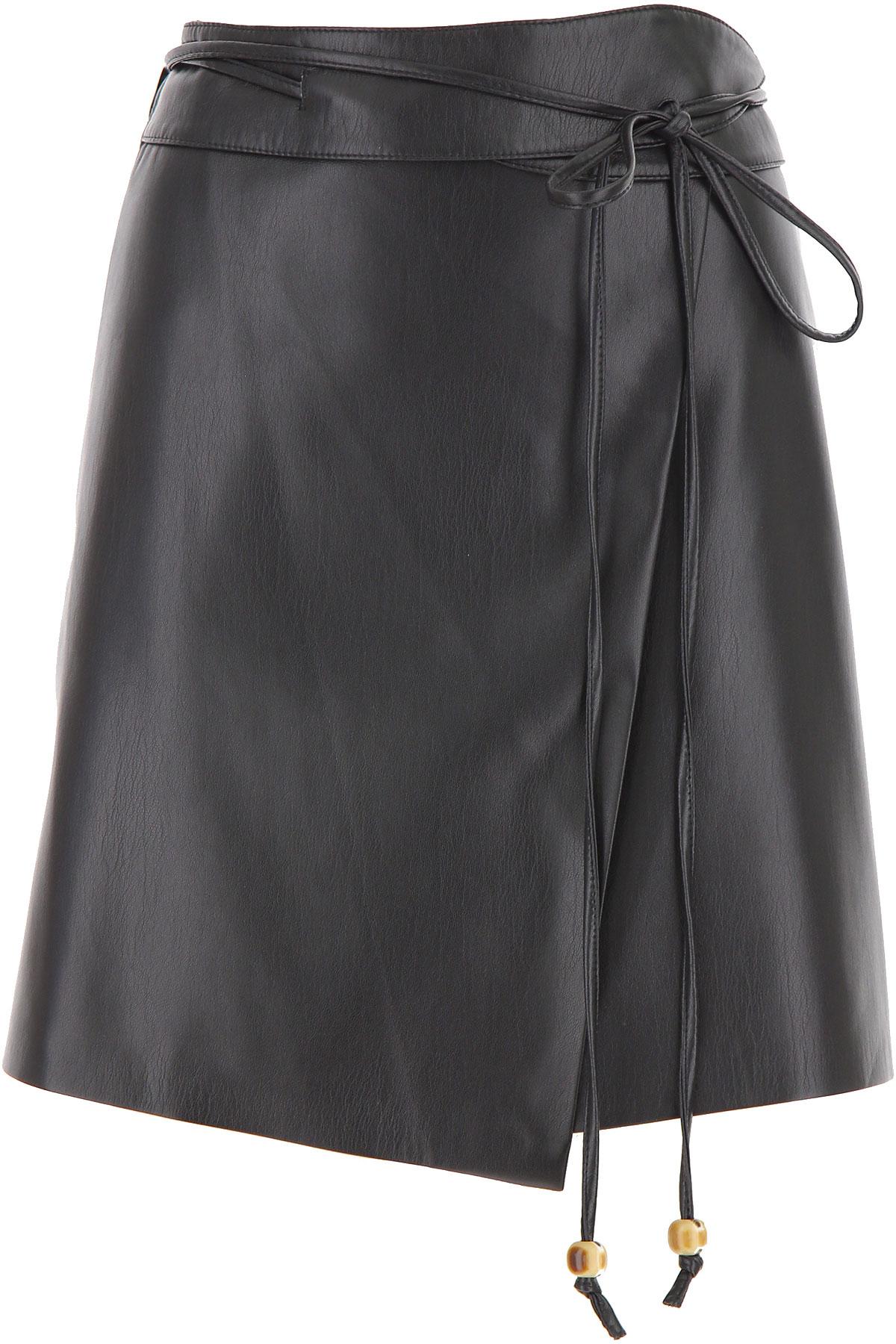 Nanushka Skirt for Women On Sale, Black, polyestere, 2019, S (IT 40) M (IT 42 )