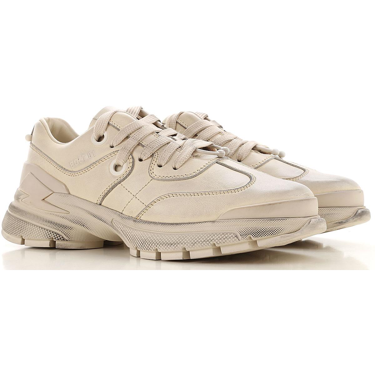 Neil Barrett Sneaker Homme Pas cher en Soldes, Beige sale, Cuir, 2019, 39.5 41 42
