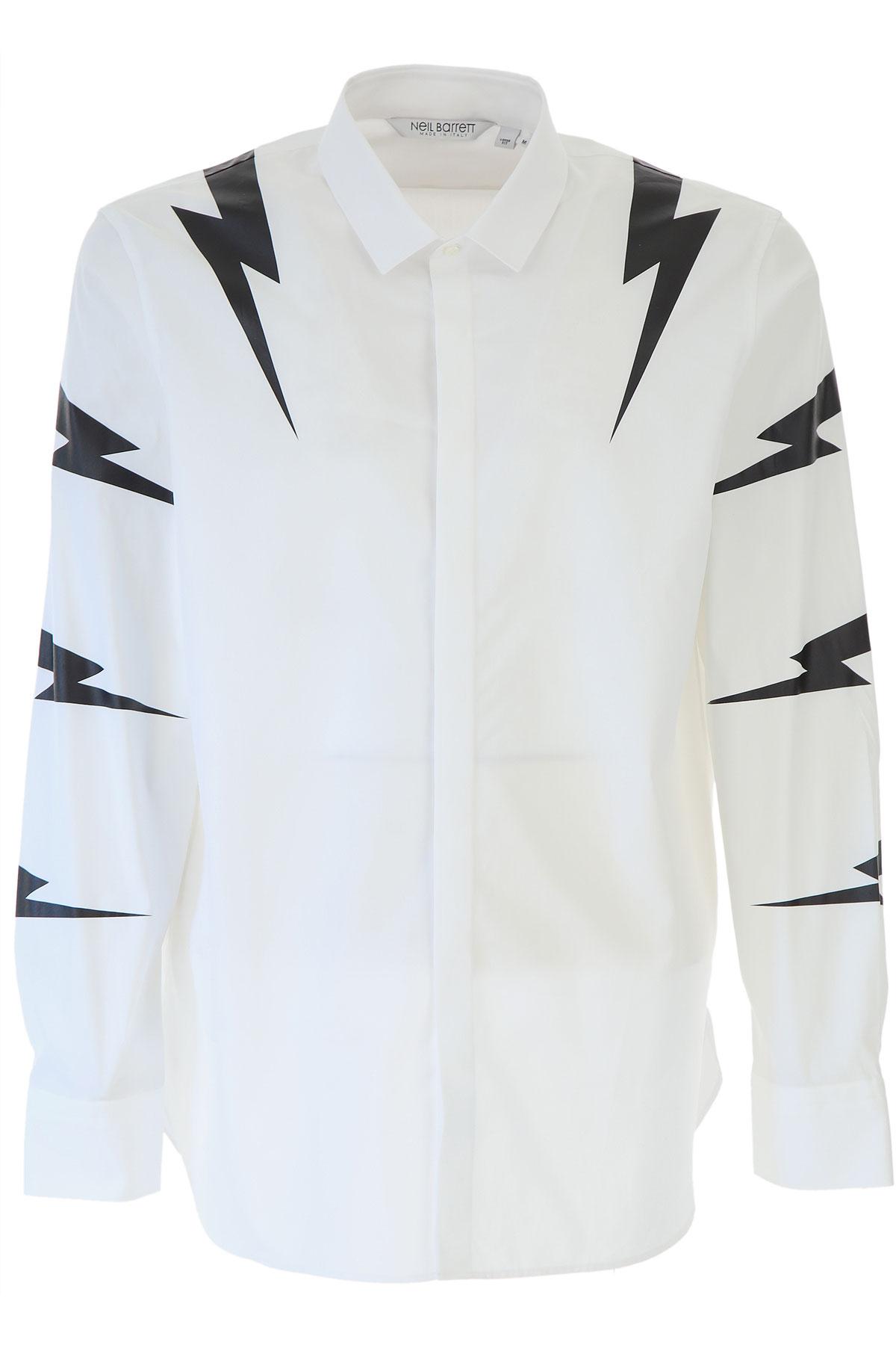 Neil Barrett Shirt for Men On Sale, White, Cotton, 2019, M • IT 48 L • IT 50 XL • IT 52