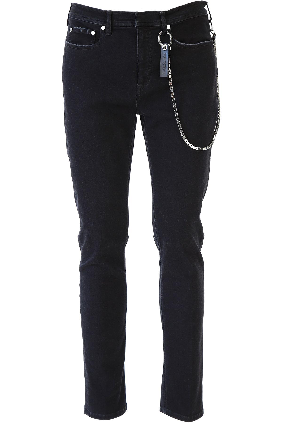 Neil Barrett Jeans On Sale, Black, Cotton, 2019, 29 31 33