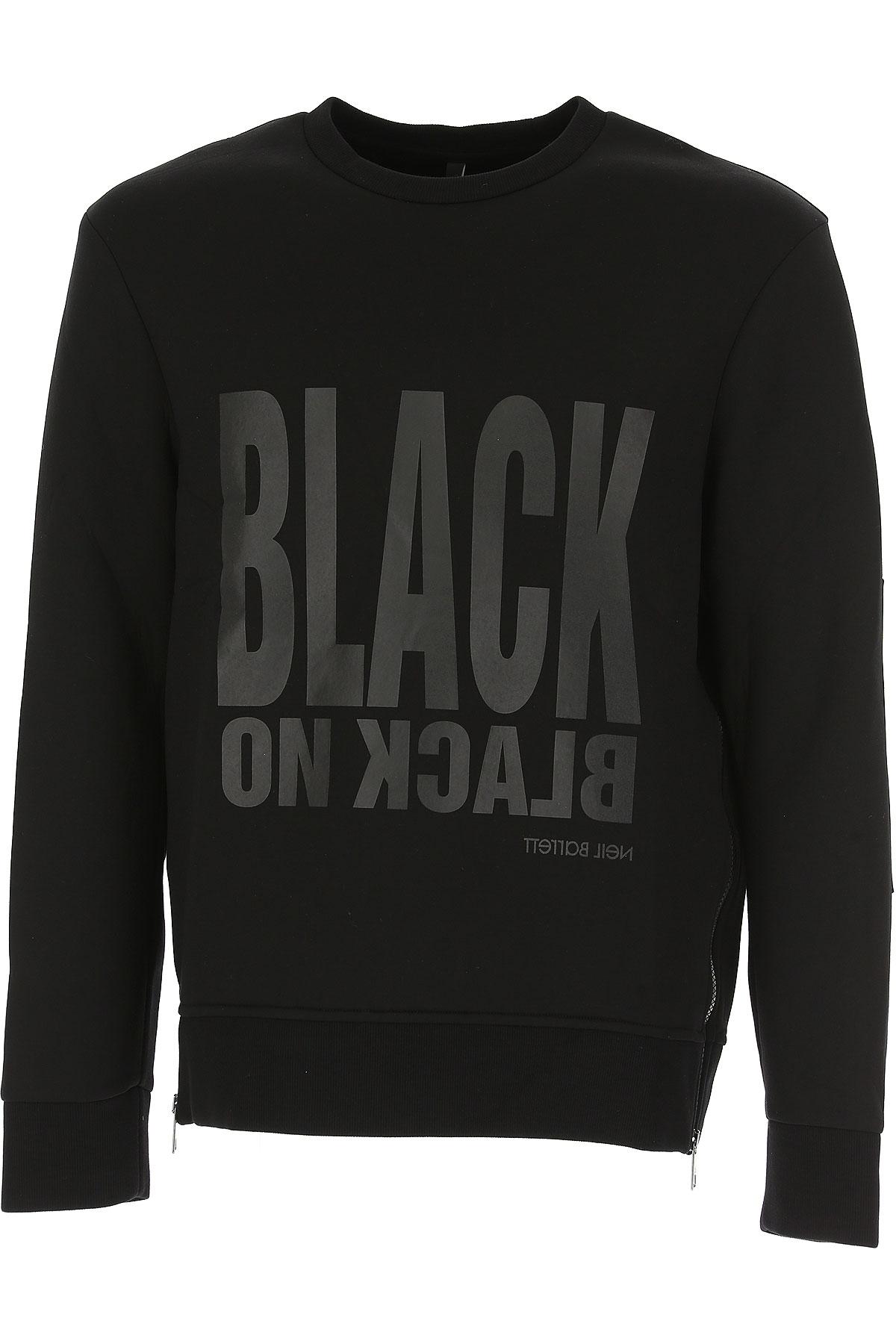 Neil Barrett Sweatshirt for Men, Black, viscosa, 2017, L M XL XS USA-466053