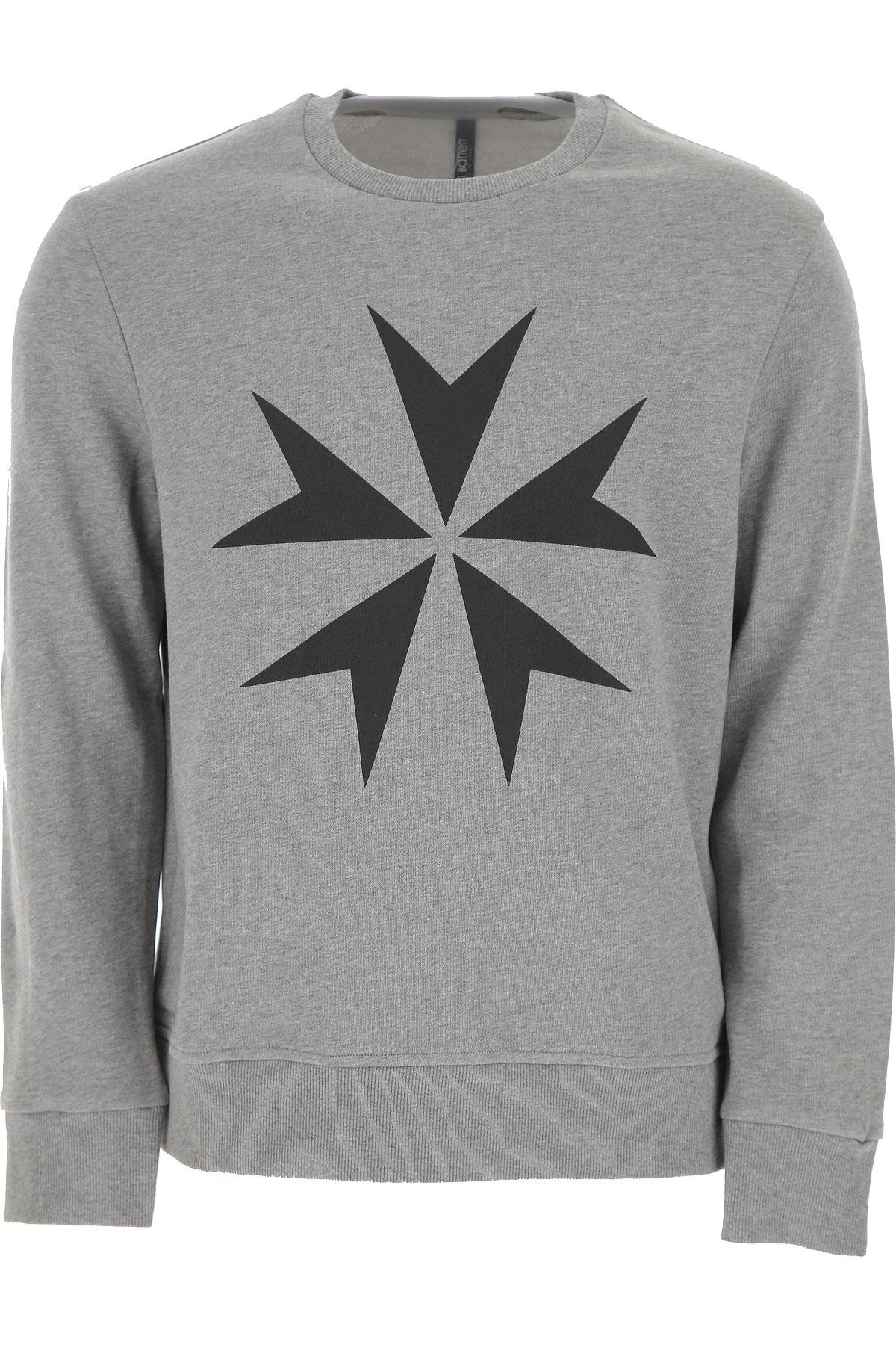 Neil Barrett Sweatshirt for Men On Sale in Outlet, Grey, Cotton, 2019, L S