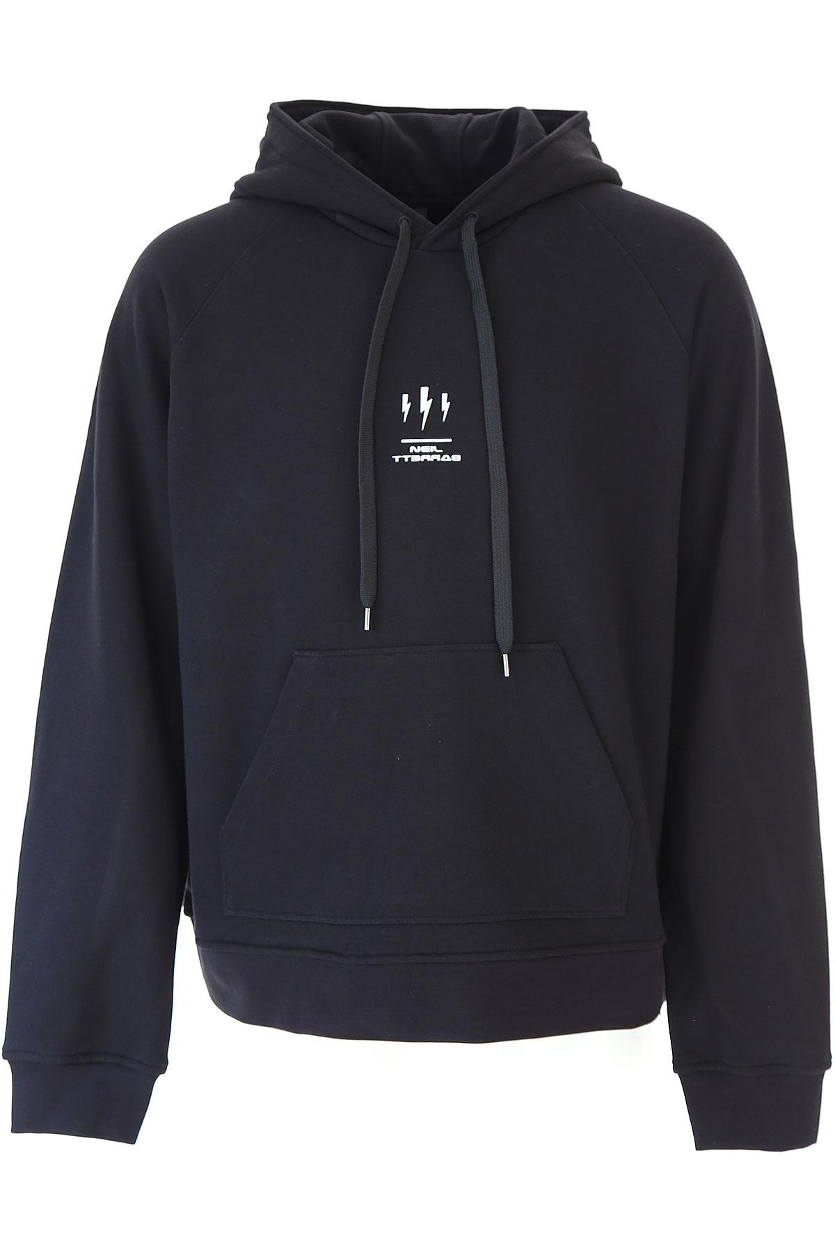 Neil Barrett Sweatshirt for Men On Sale, Black, Cotton, 2019, L M S
