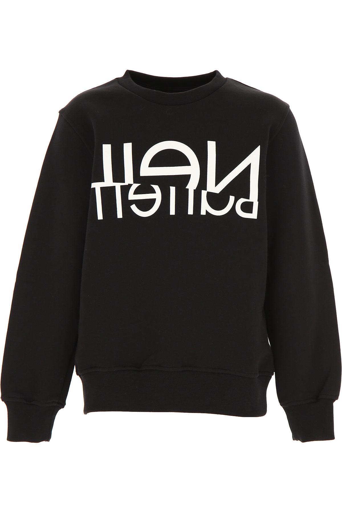 Neil Barrett Kids Sweatshirts & Hoodies for Boys On Sale, Black, Cotton, 2019, 10Y 8Y