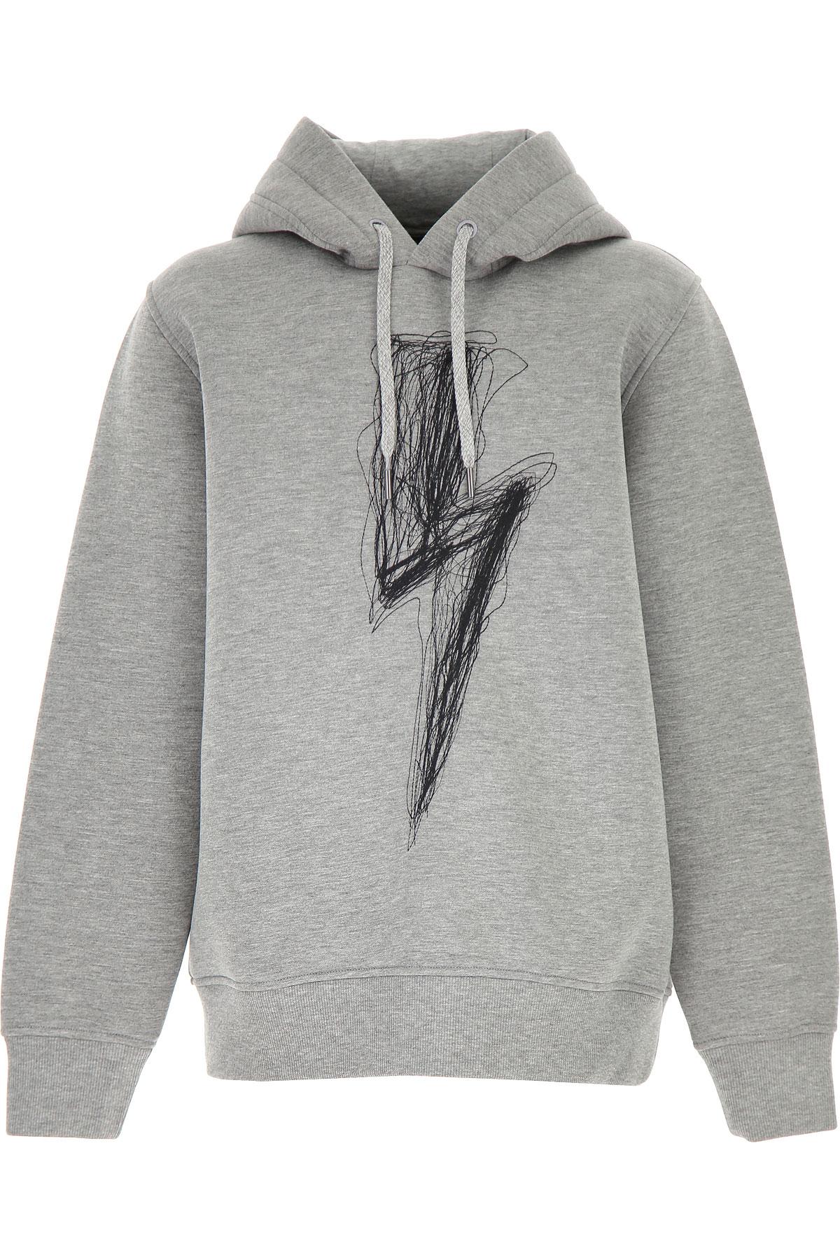 Neil Barrett Kids Sweatshirts & Hoodies for Boys On Sale, Grey, viscosa, 2019, 10Y 12Y 14Y 8Y