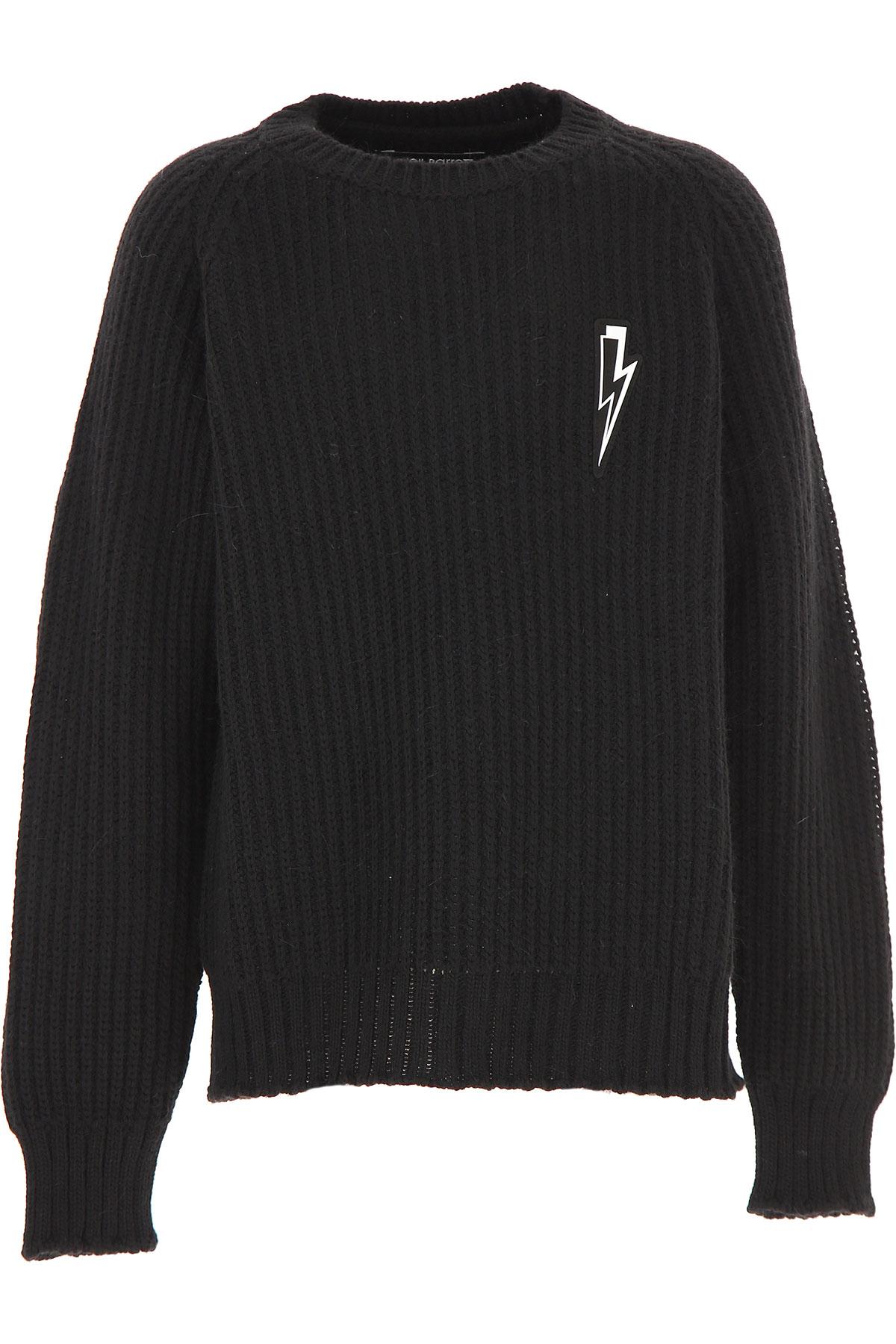 Neil Barrett Kids Sweaters for Boys On Sale, Black, Acrylic, 2019, 10Y 12Y 14Y 8Y