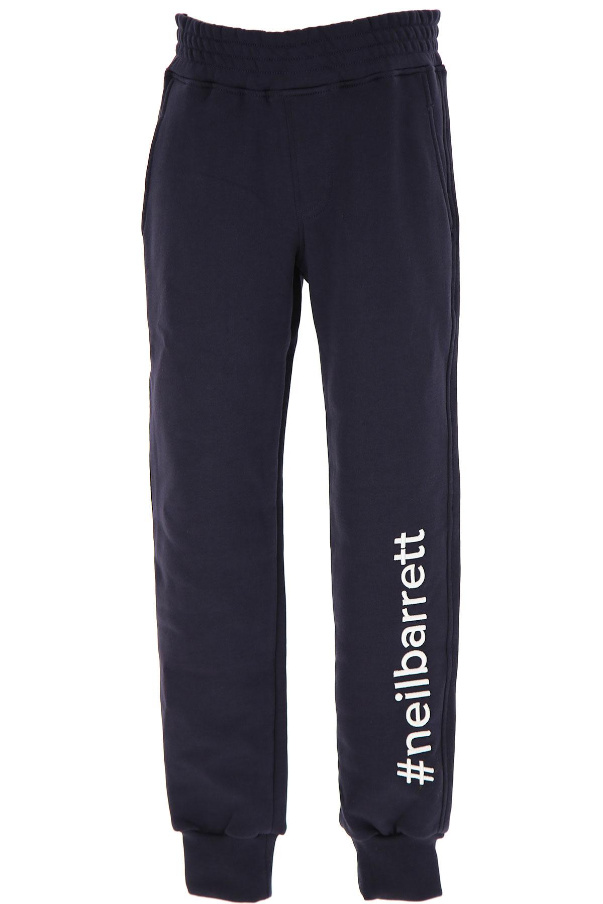 Neil Barrett Kids Sweatpants for Boys On Sale, Blue, Cotton, 2019, 10Y 12Y 14Y 8Y
