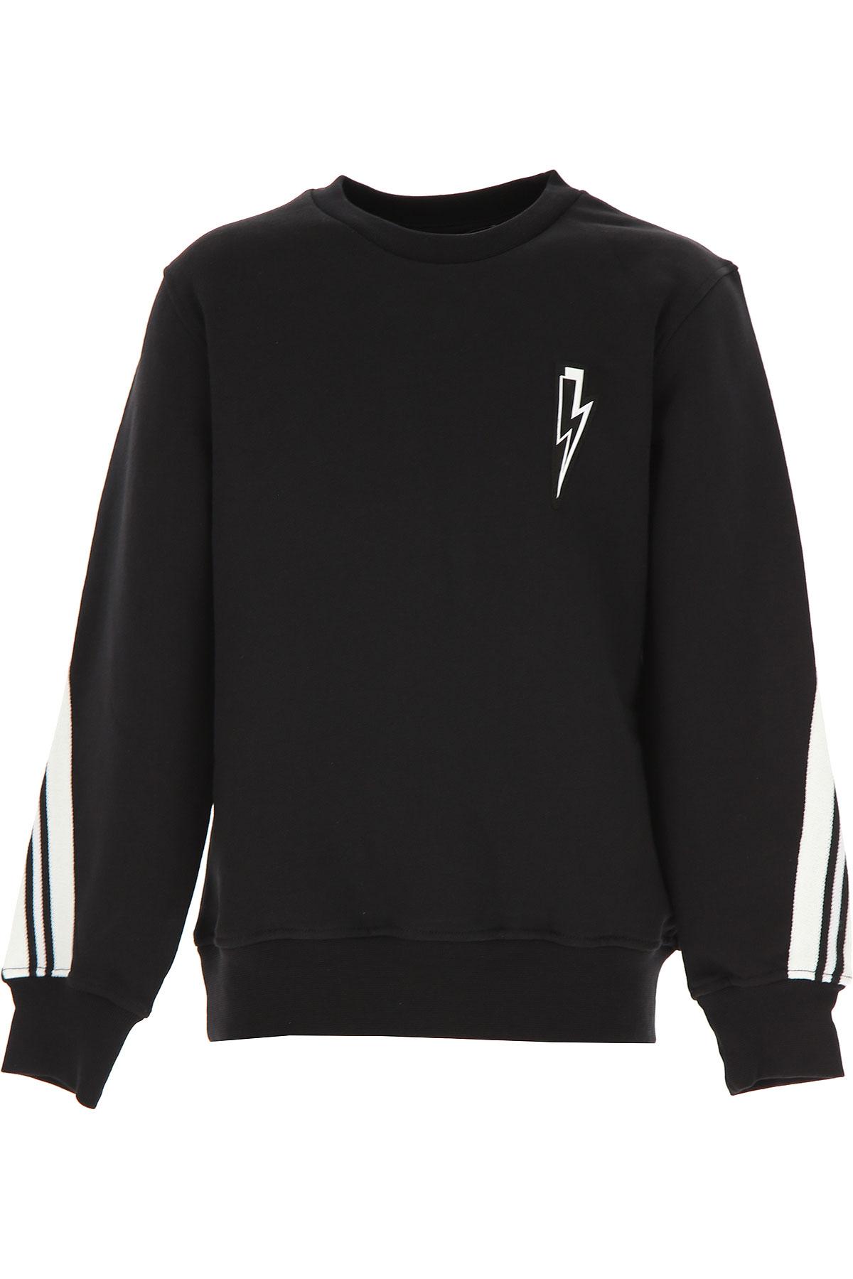 Neil Barrett Kids Sweatshirts & Hoodies for Boys On Sale, Black, Cotton, 2019, 10Y 12Y 14Y 8Y
