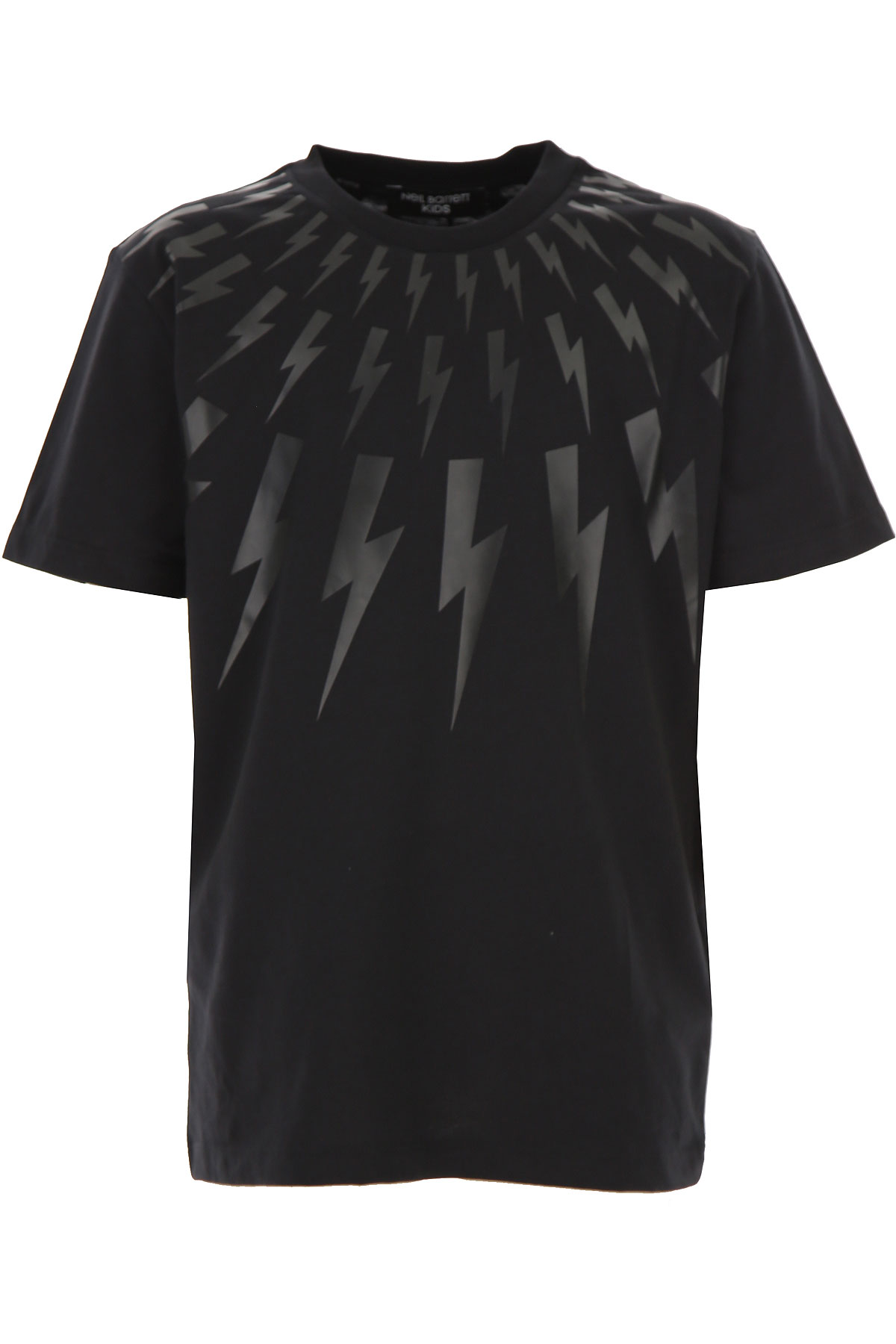 Neil Barrett Kids T-Shirt for Boys On Sale, Black, Cotton, 2019, 10Y 12Y 8Y