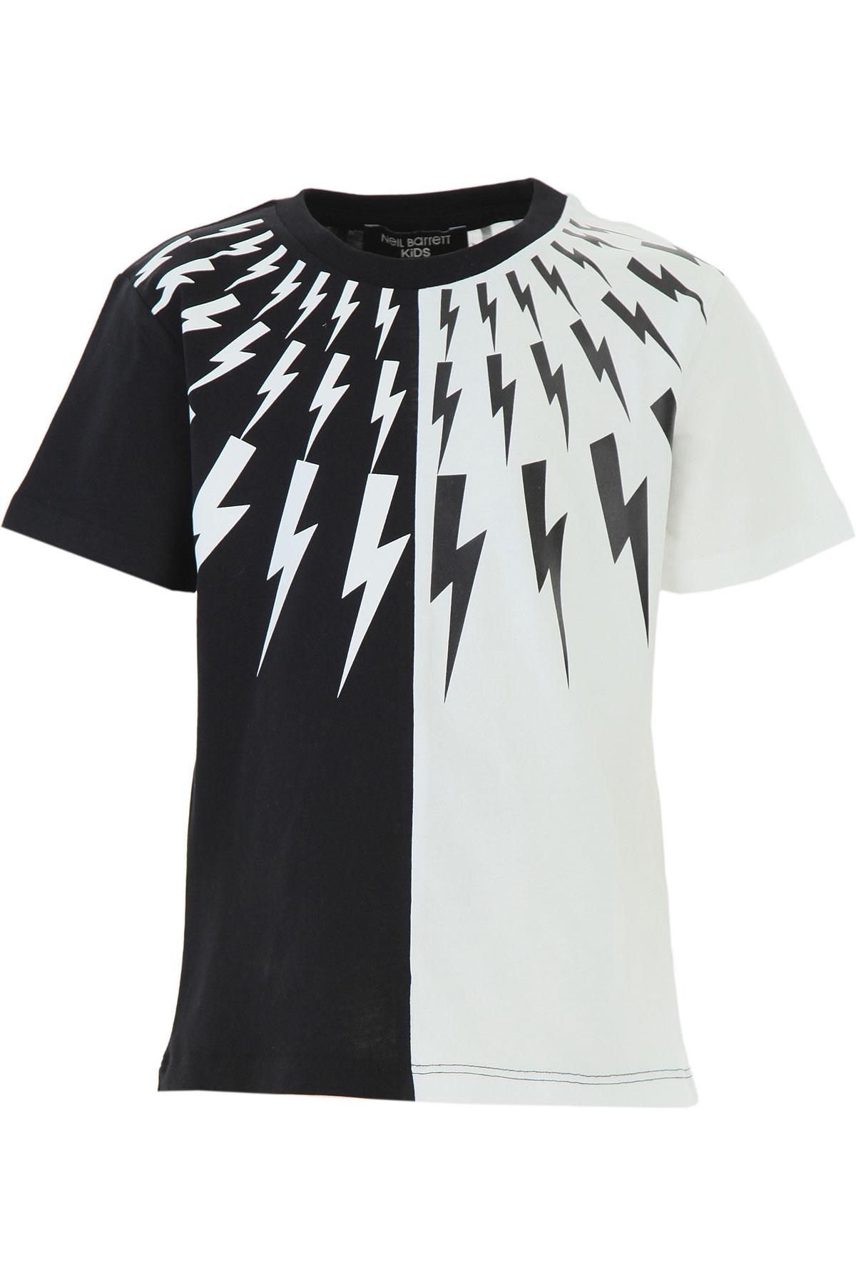 Neil Barrett Kids T-Shirt for Boys On Sale, Black, Cotton, 2019, 10Y 12Y 6Y 8Y