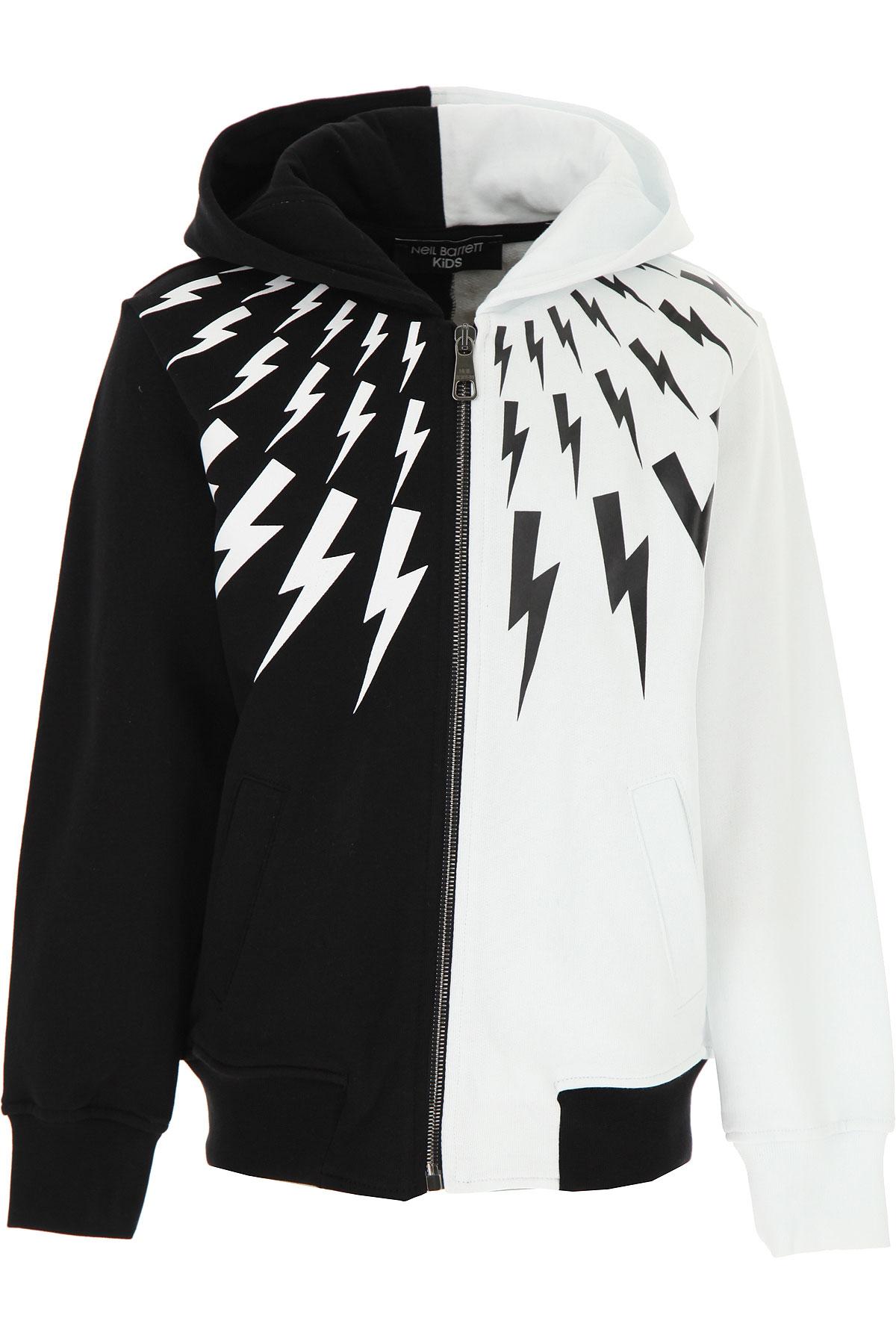Neil Barrett Kids Sweatshirts & Hoodies for Boys On Sale, Black, Cotton, 2019, 10Y 12Y 6Y 8Y