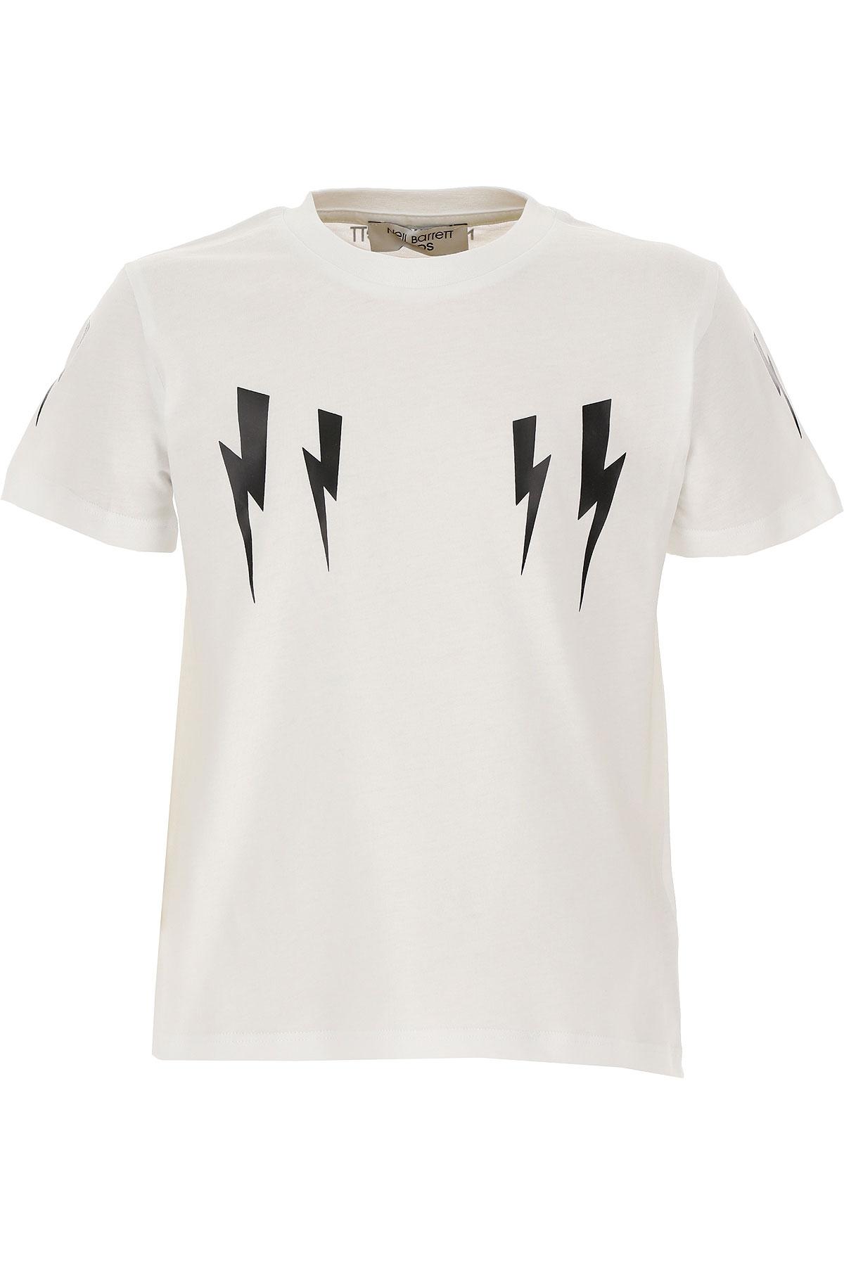 Neil Barrett Kids T-Shirt for Boys On Sale, White, Cotton, 2019, 12Y 6Y 8Y