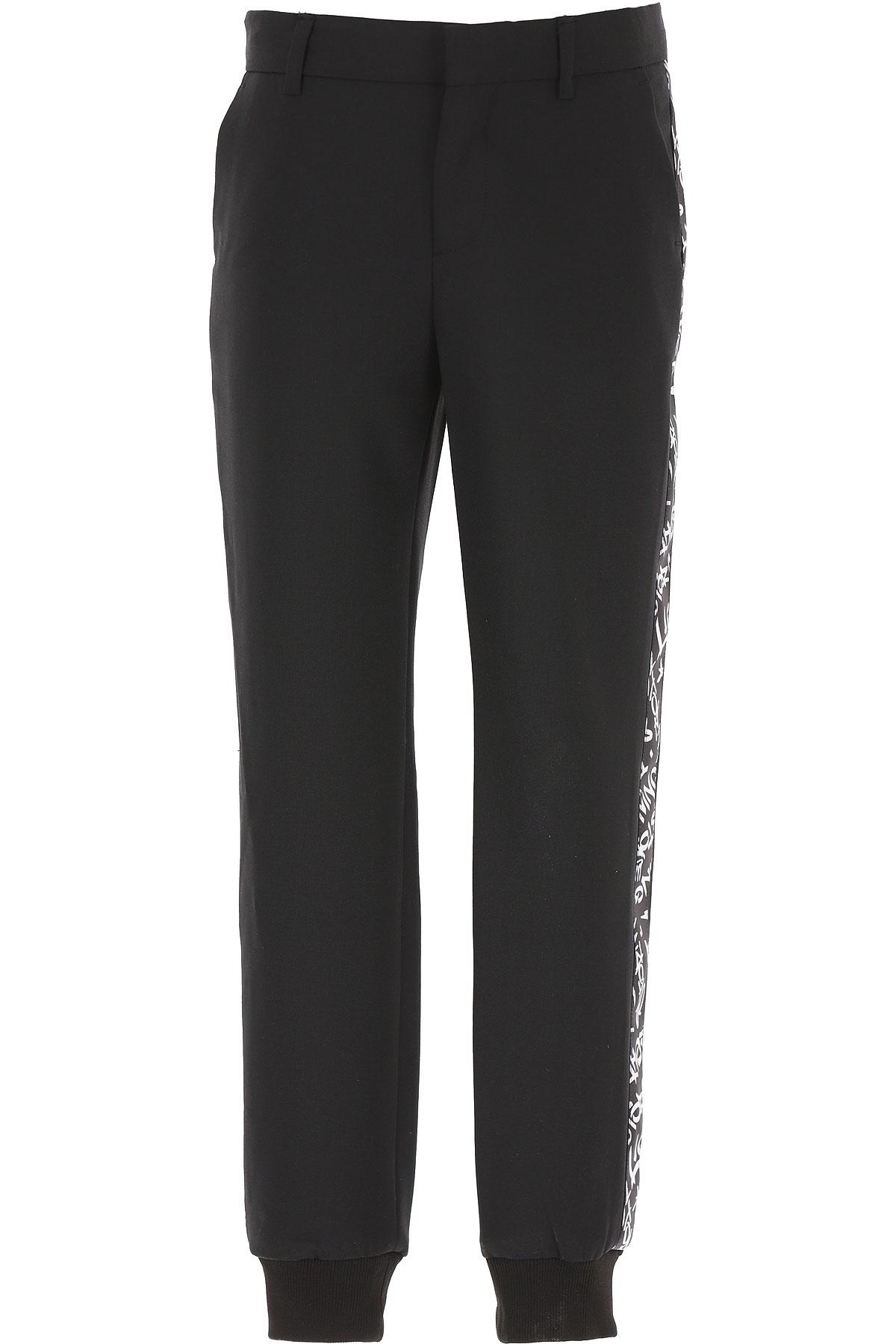 Neil Barrett Kids Pants for Boys On Sale, Black, polyester, 2019, 10Y 12Y 14Y 8Y