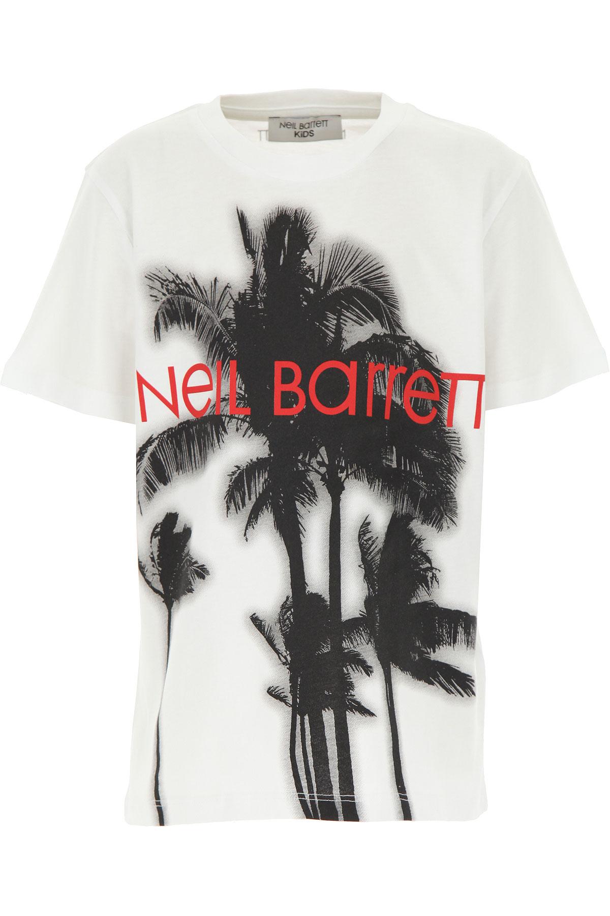 Neil Barrett Kids T-Shirt for Boys On Sale, White, Cotton, 2019, 10Y 14Y 8Y