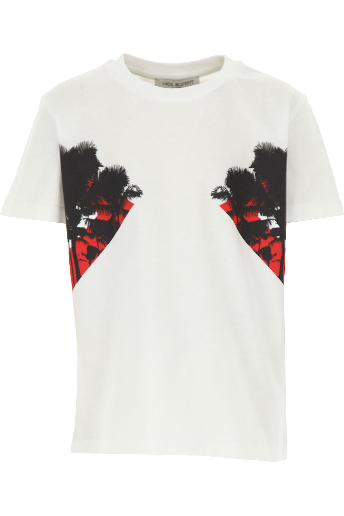 Neil Barrett Kids T-Shirt for Boys On Sale, White, Cotton, 2019, 14Y 6Y