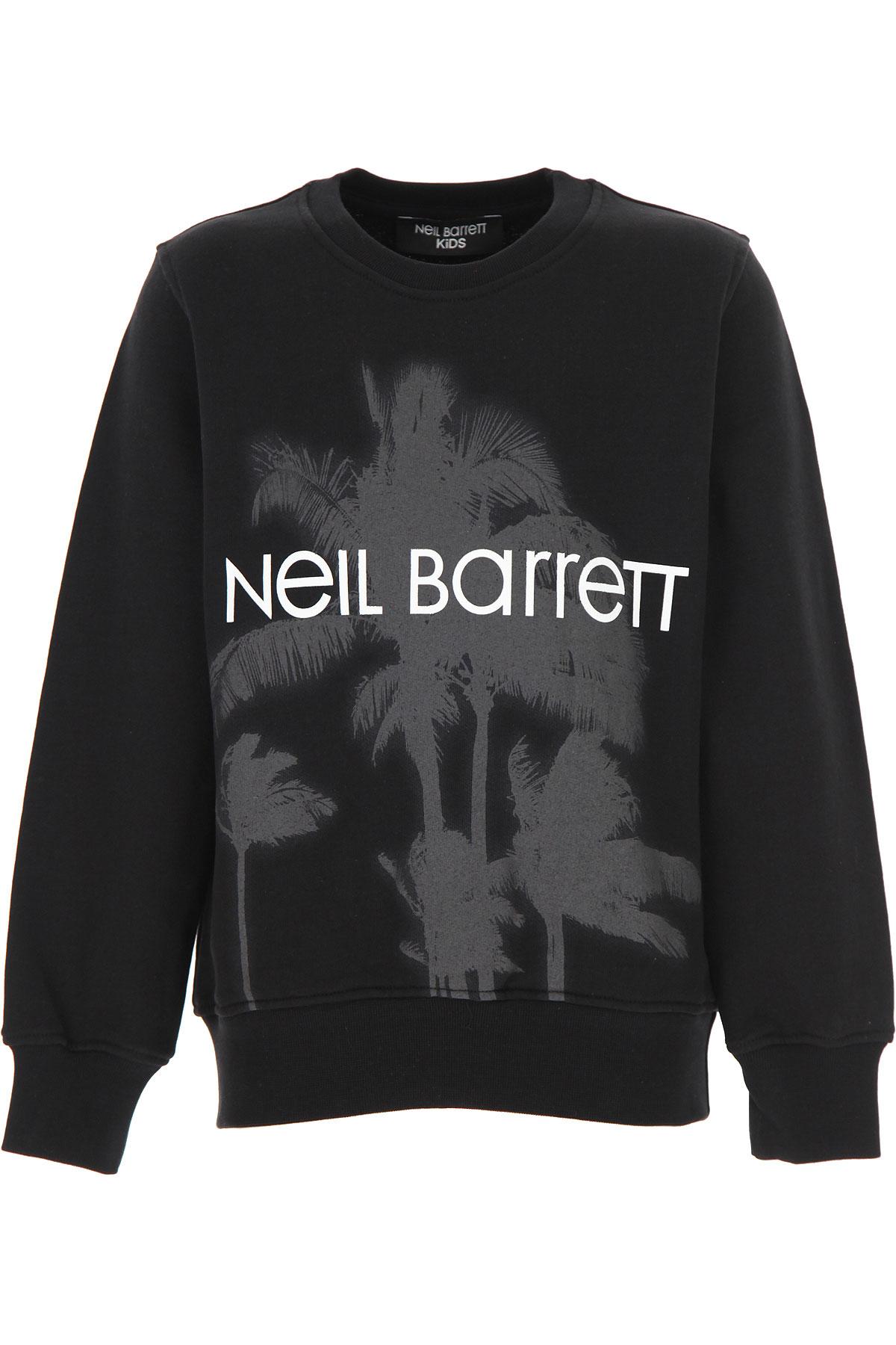 Neil Barrett Kids Sweatshirts & Hoodies for Boys On Sale, Black, Cotton, 2019, 10Y 12Y 14Y 6Y 8Y