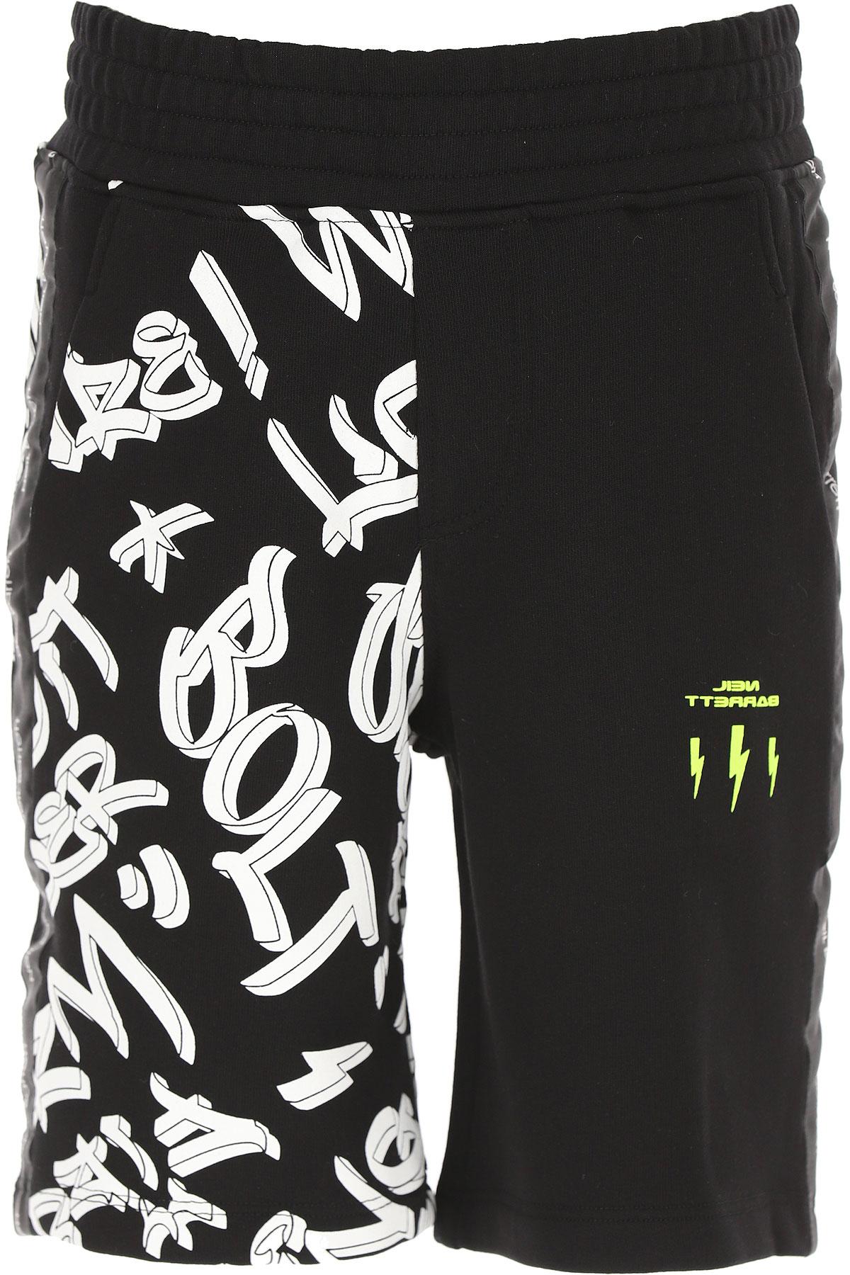 Neil Barrett Kids Shorts for Boys On Sale, Black, Cotton, 2019, 10Y 12Y 14Y 8Y