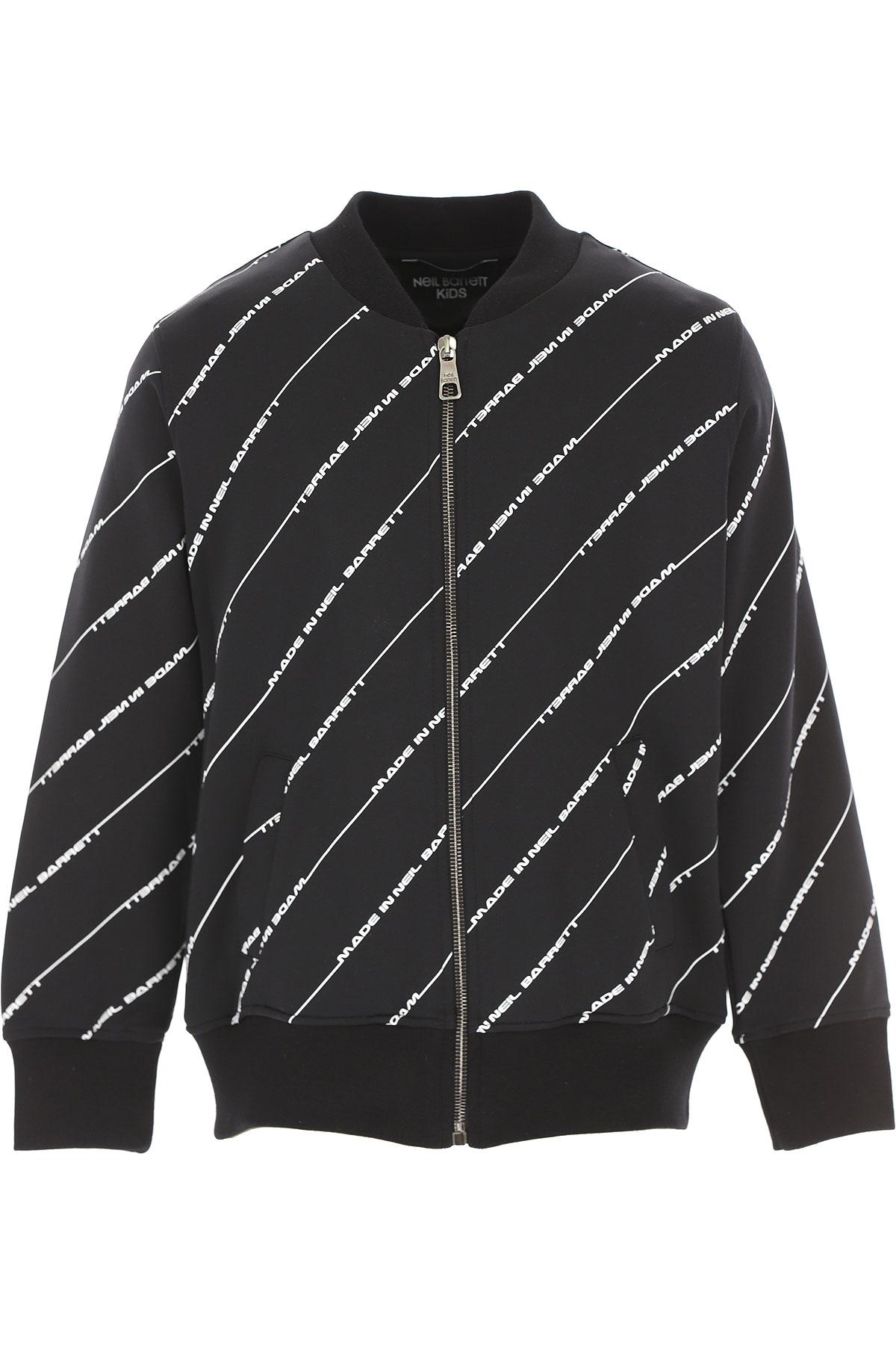 Neil Barrett Kids Sweatshirts & Hoodies for Boys On Sale, Black, polyamide, 2019, 10Y 12Y 14Y 8Y