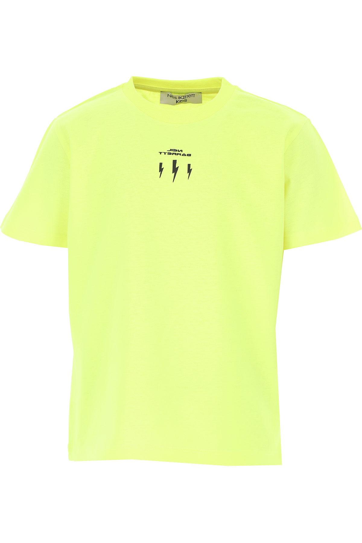 Neil Barrett Kids T-Shirt for Boys On Sale, fluo yellow, Cotton, 2019, 10Y 12Y 8Y