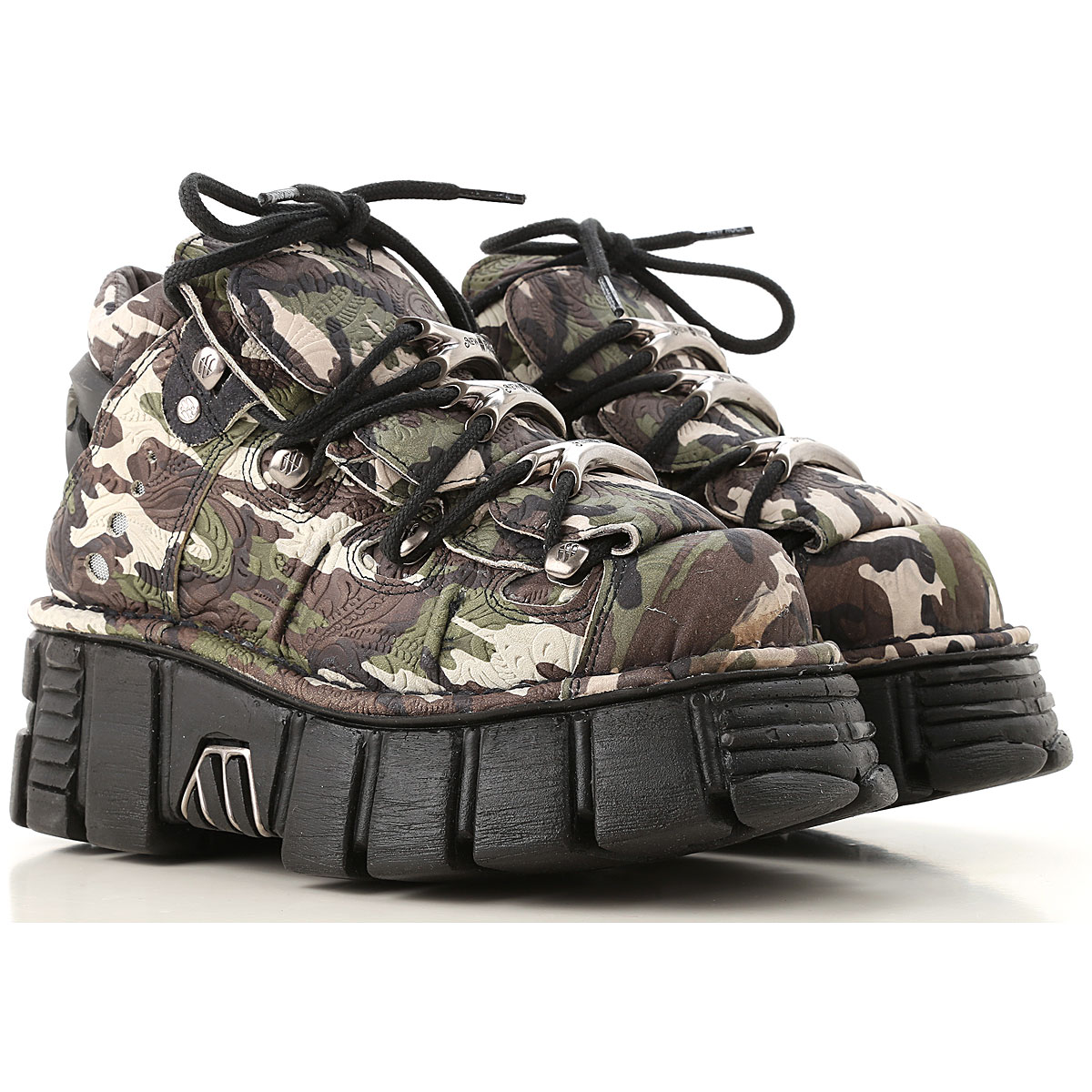 Image of New Rock Boots for Women, Booties, camouflage, Leather, 2017, 10 6 7 9