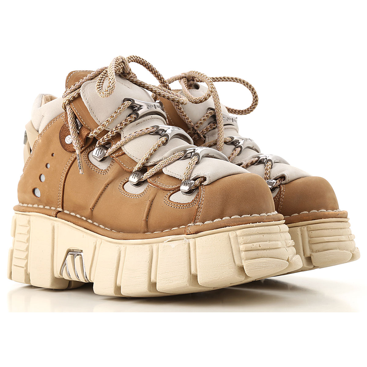 Image of New Rock Boots for Women, Booties, Beige, Leather, 2017, 10 6 7