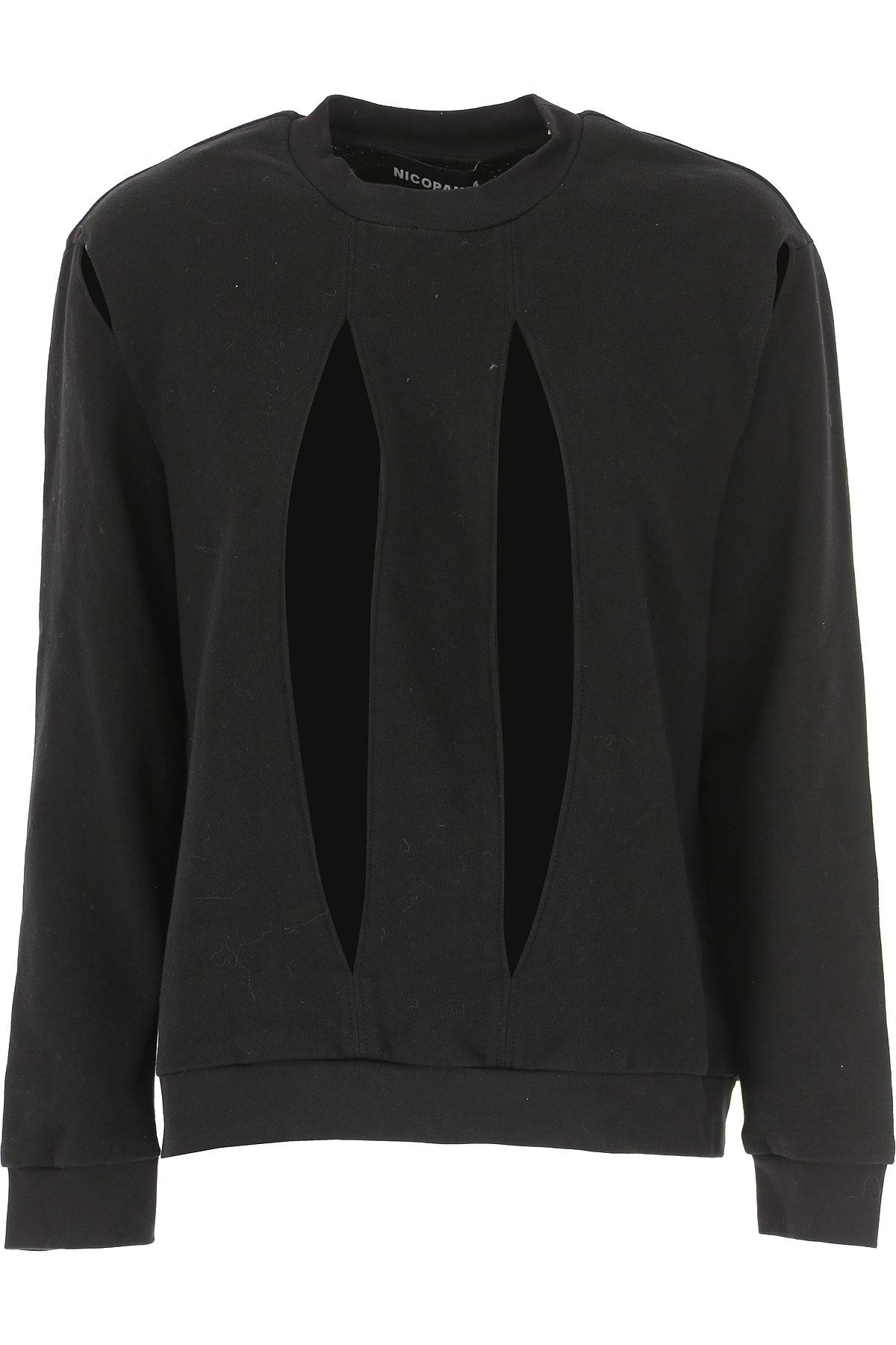 Nicopanda Sweatshirt for Women Pas cher en Soldes Outlet, Noir, Coton, 2019, 38 46
