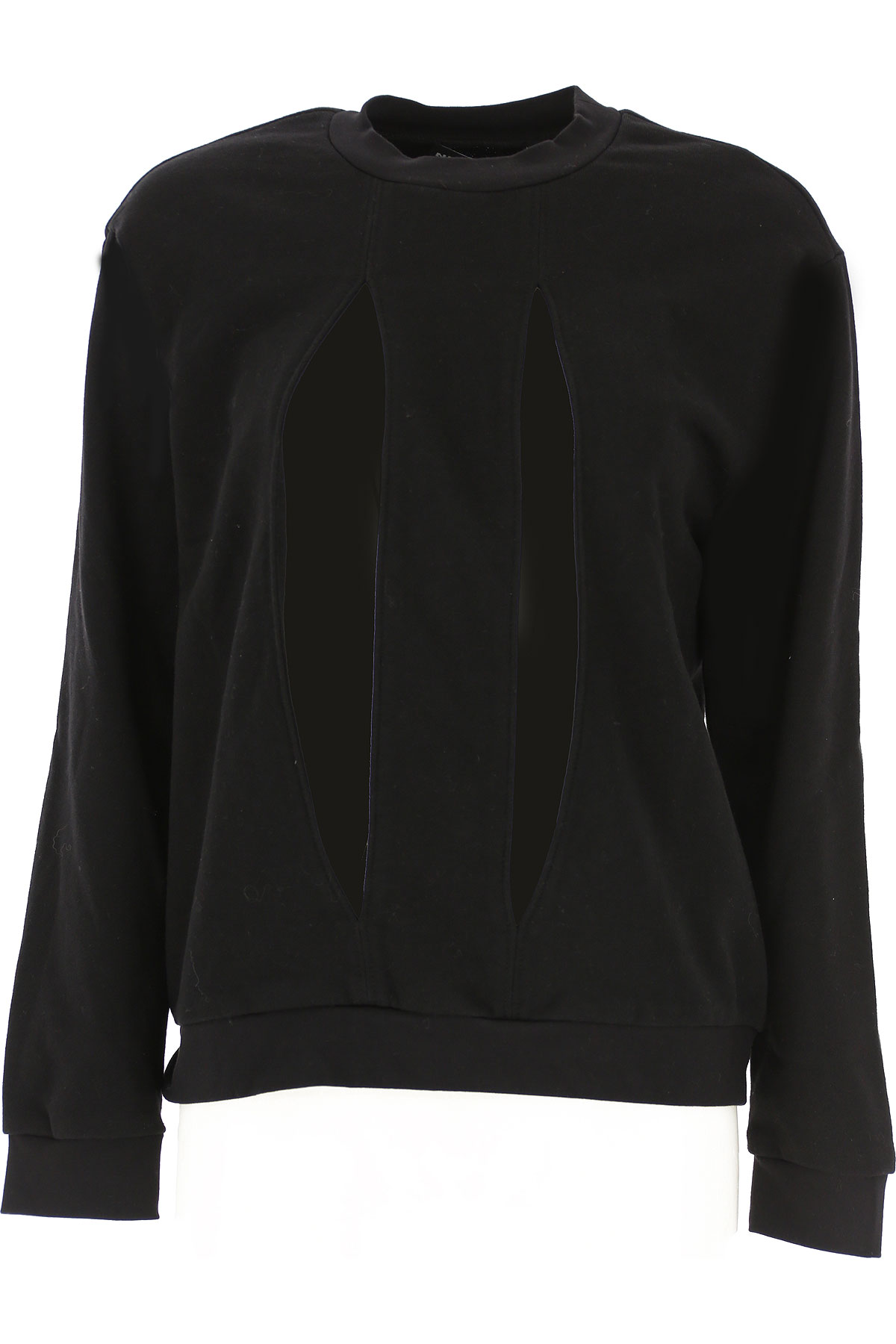 Nicopanda Sweatshirt for Women On Sale, Black, Cotton, 2019, 10 2