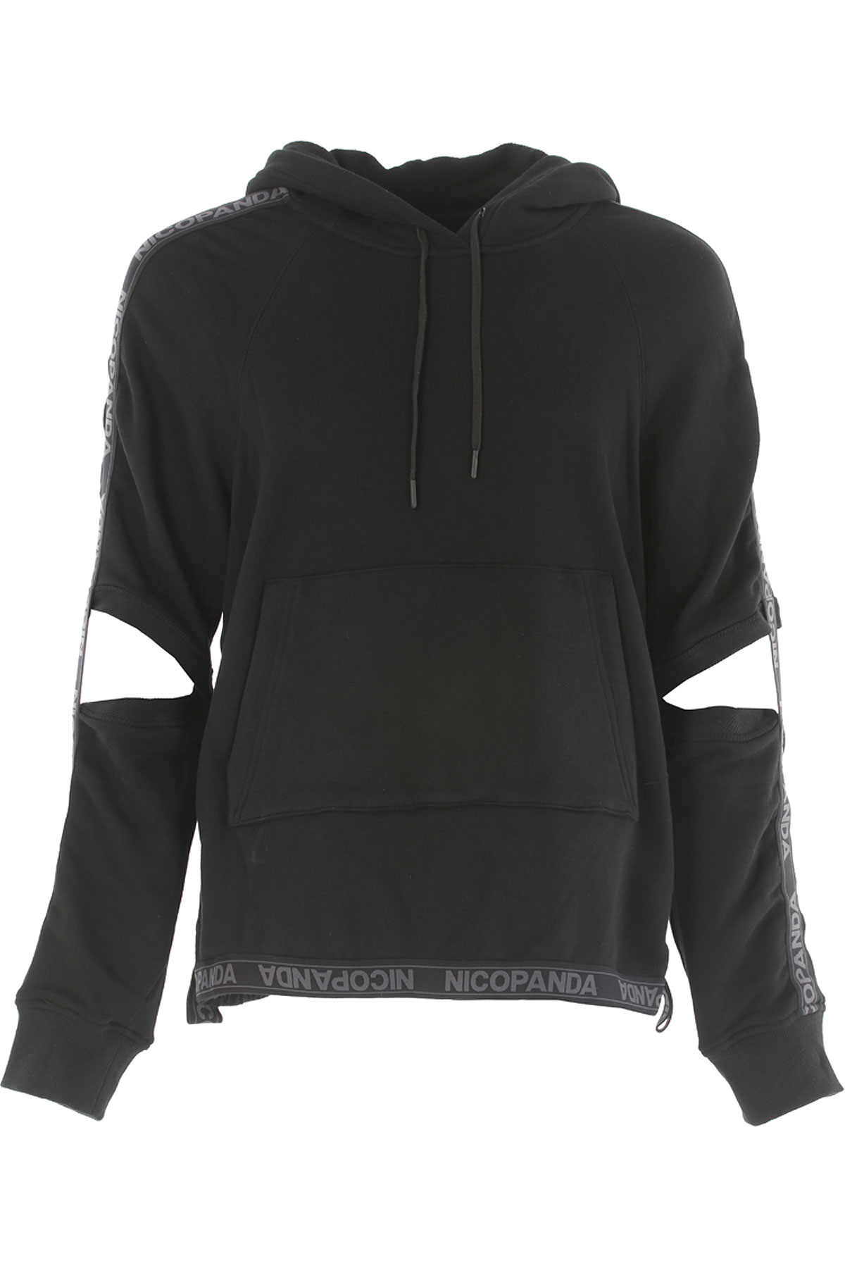 Image of Nicopanda Sweater for Men Jumper On Sale, Black, Cotton, 2017, 3 - Uk/Usa L - Ita 50 4 - Uk/Usa XL - Ita 52