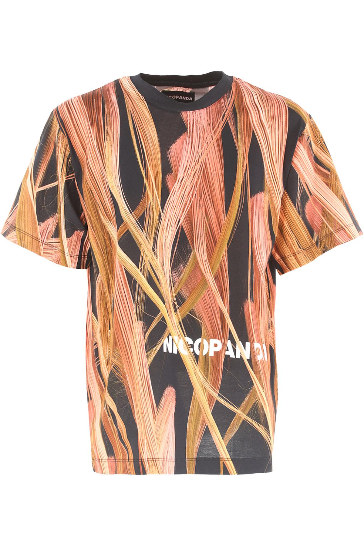 Nicopanda T-shirt Homme Pas cher en Soldes, Noir, Coton, 2019, 46 50