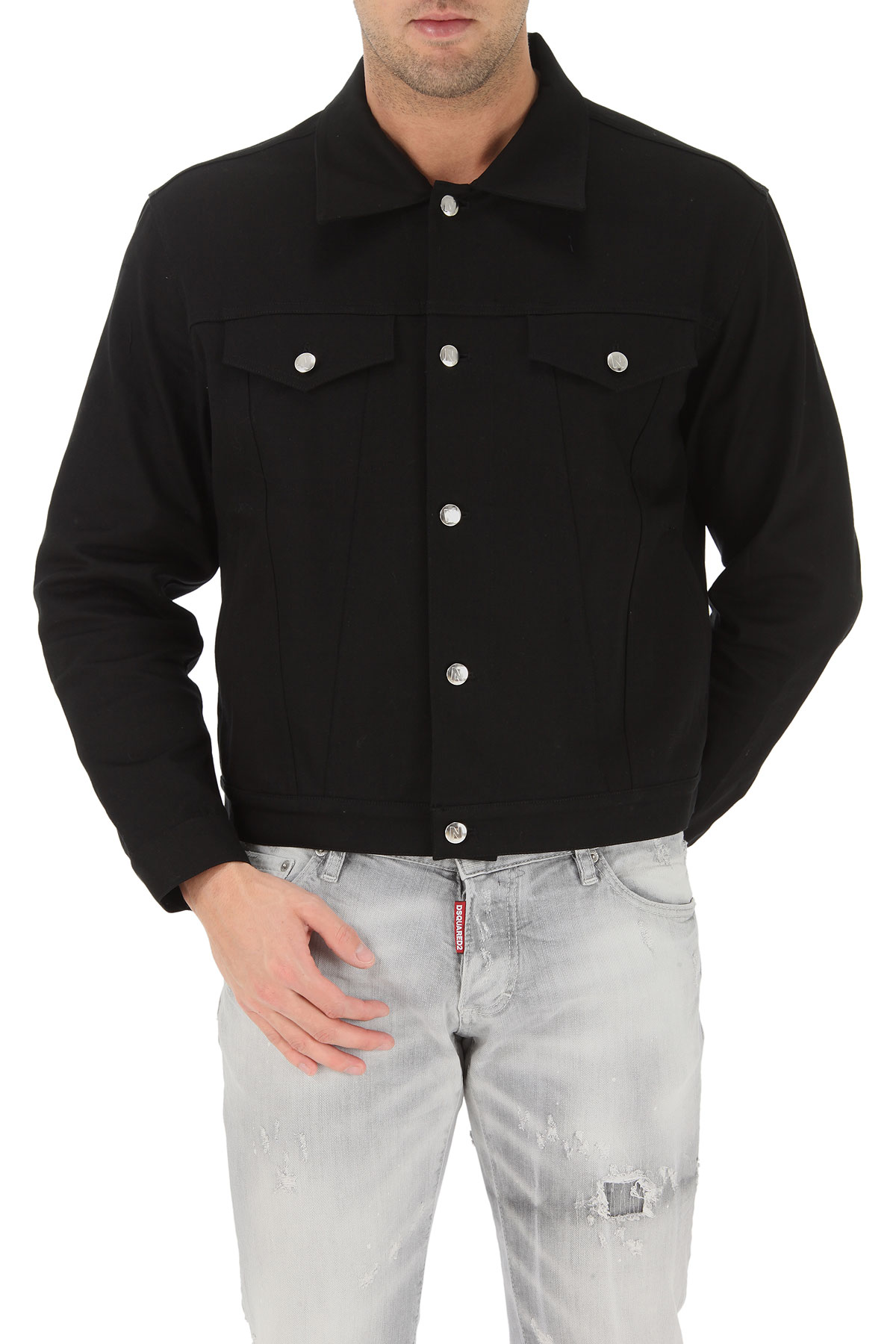 Image of Nicopanda Jacket for Men On Sale, Black, Cotton, 2017, 1 - Uk/Usa S - Ita 46 3 - Uk/Usa L - Ita 50 2 - Uk/Usa M - Ita 48