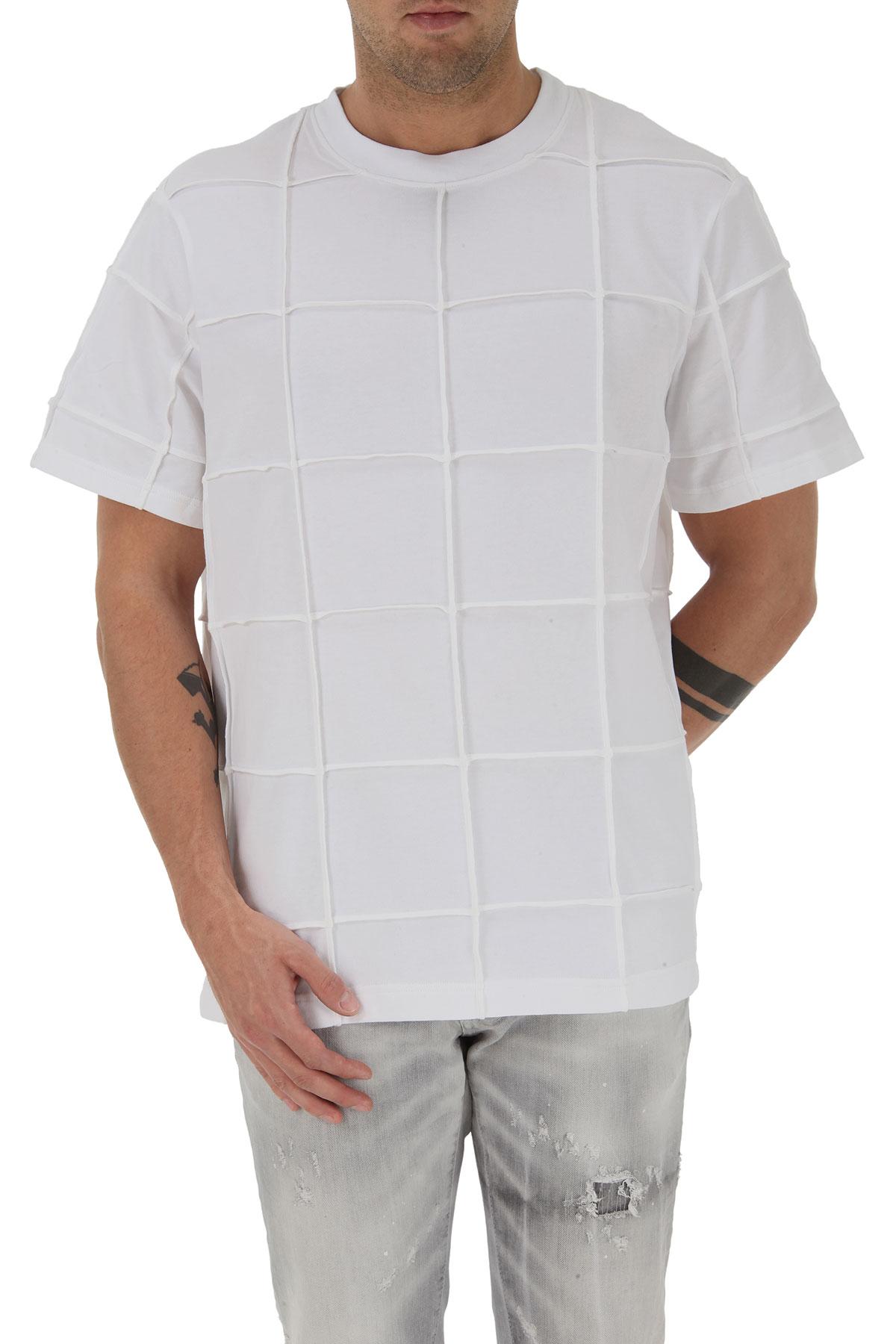 Nicopanda T-shirt Homme Pas cher en Soldes, Blanc, Coton, 2019, 46
