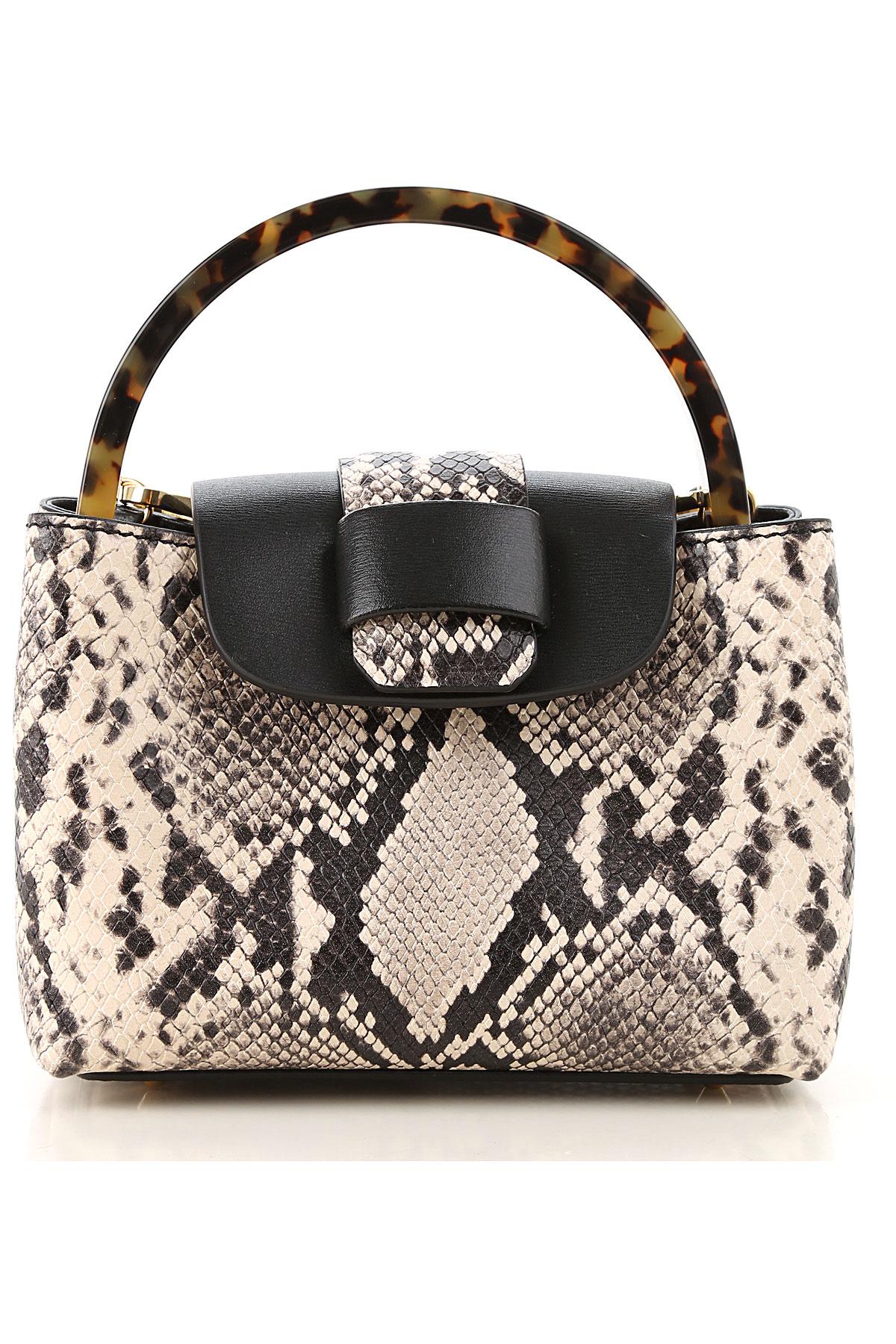Nico Giani Top Handle Handbag On Sale, Natural, Leather, 2019