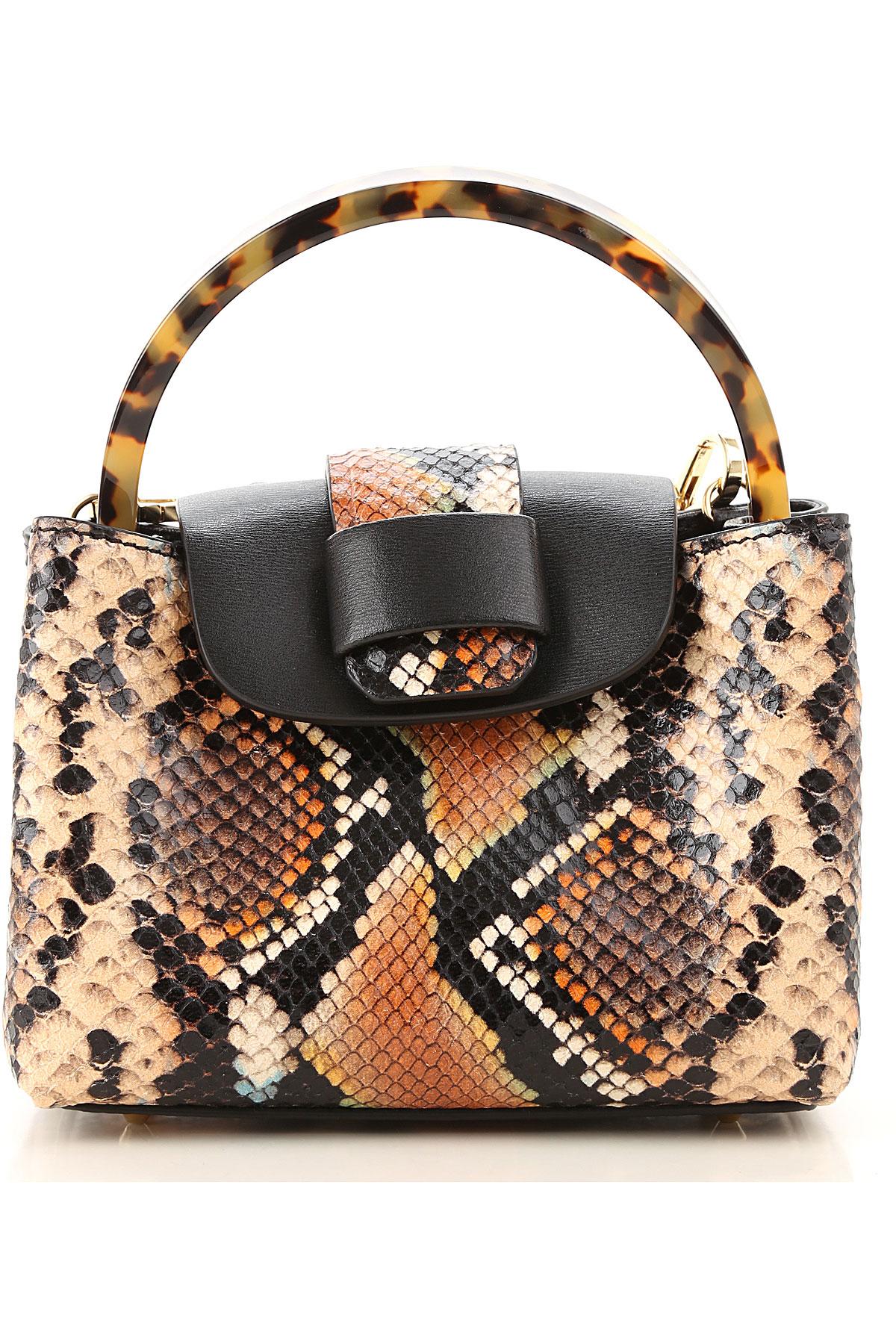 Nico Giani Top Handle Handbag On Sale, Multicolor, Leather, 2019