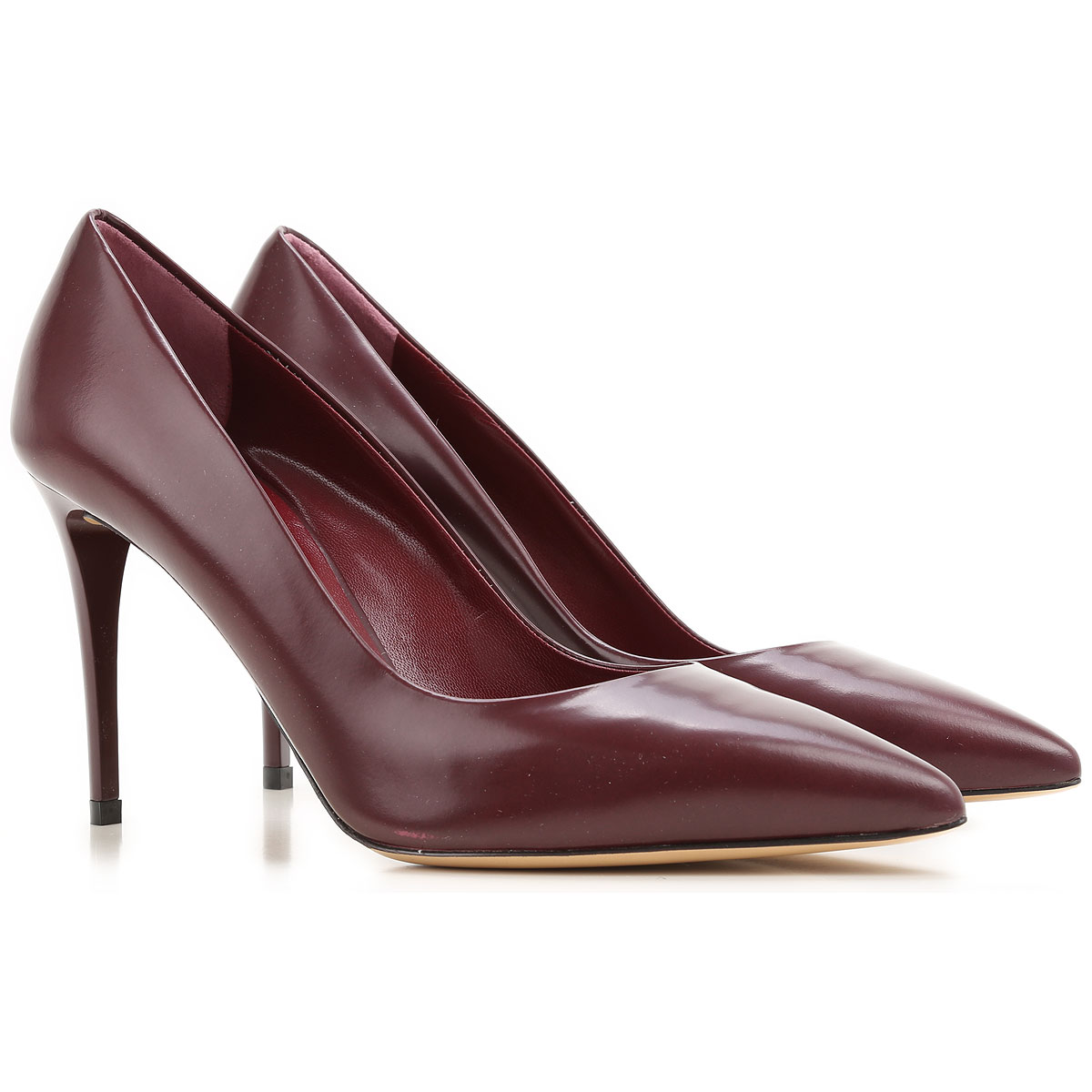 Nina Lilou Pumps & High Heels for Women On Sale in Outlet, Bordeaux, Leather, 2019, 10 9