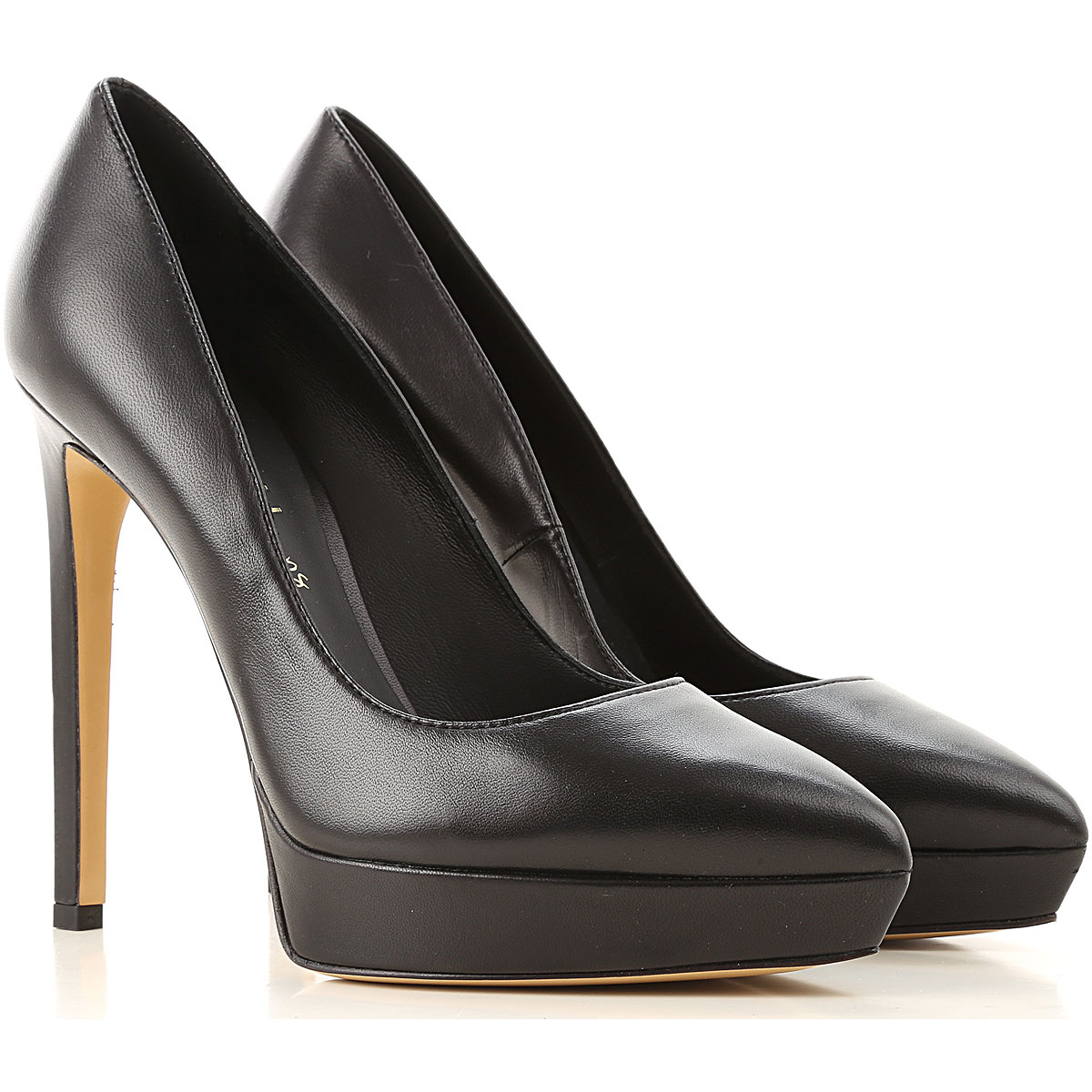 Nina Lilou Pumps & High Heels for Women On Sale in Outlet, Black, Leather, 2019, 6 8