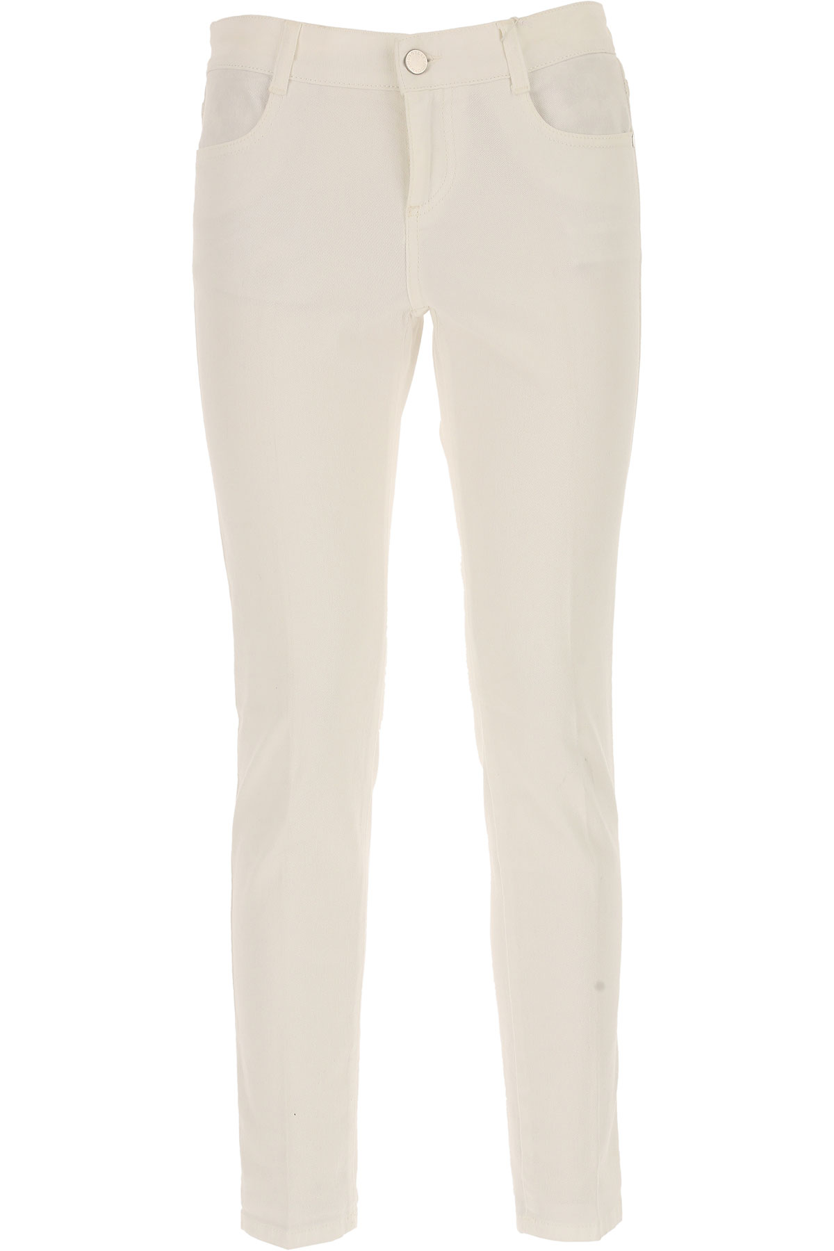 Stella McCartney Jeans On Sale in Outlet, White, Cotton, 2017, 26 28 USA-434737