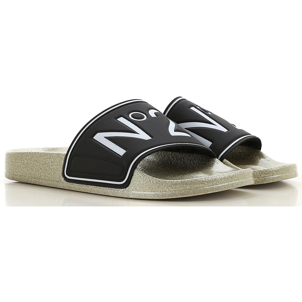NO 21 Sandals for Women, Black, Rubber, 2019, 7 8