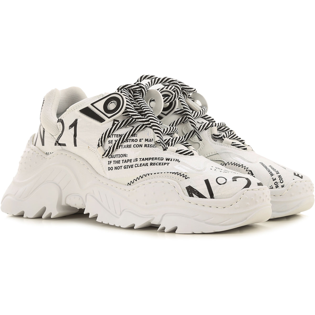 NO 21 Sneakers for Women On Sale, White, Leather, 2019, 10 11 6 8 9